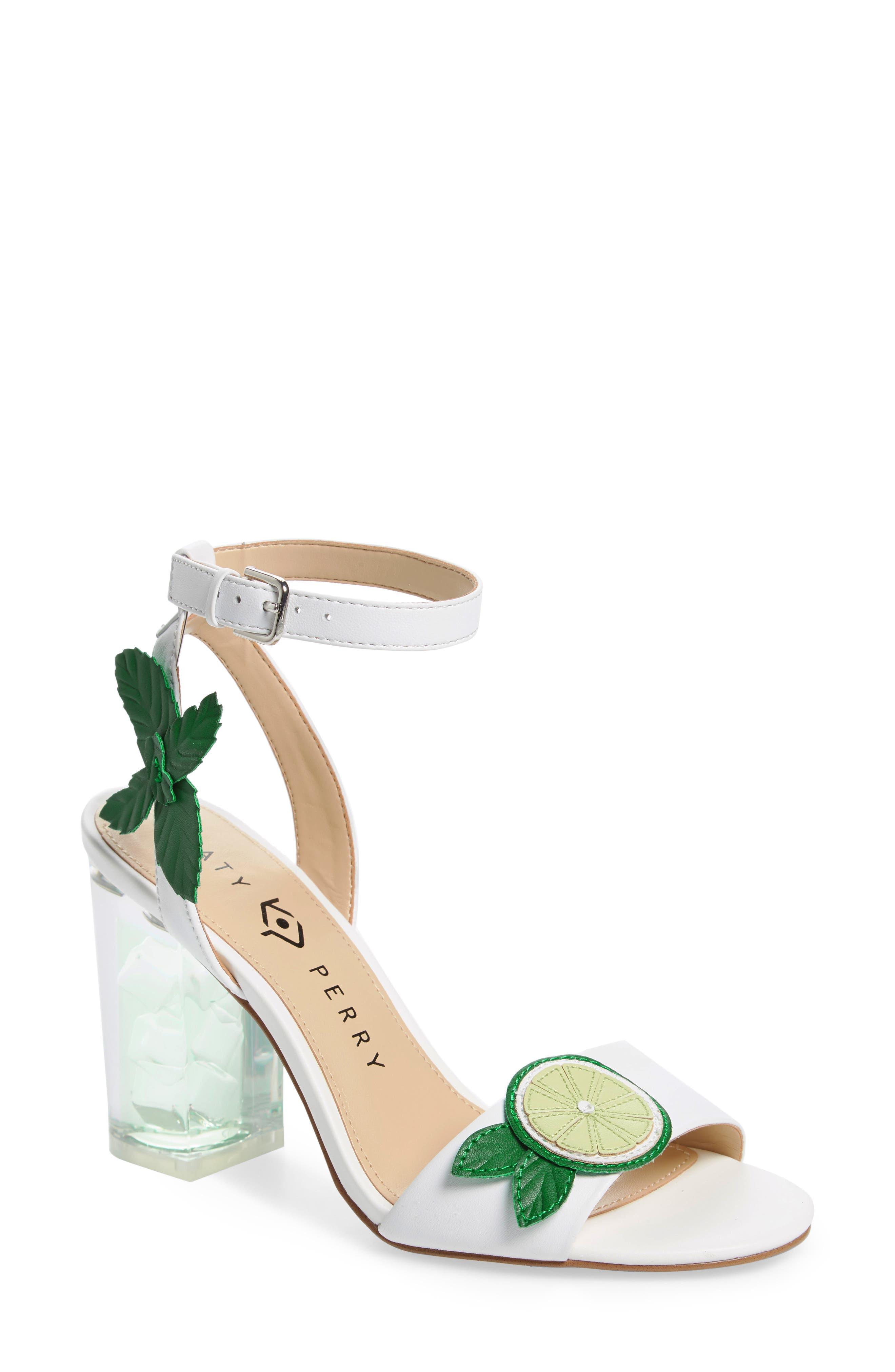 Rita Mohito Sandal,                             Main thumbnail 1, color,                             White/ Lime