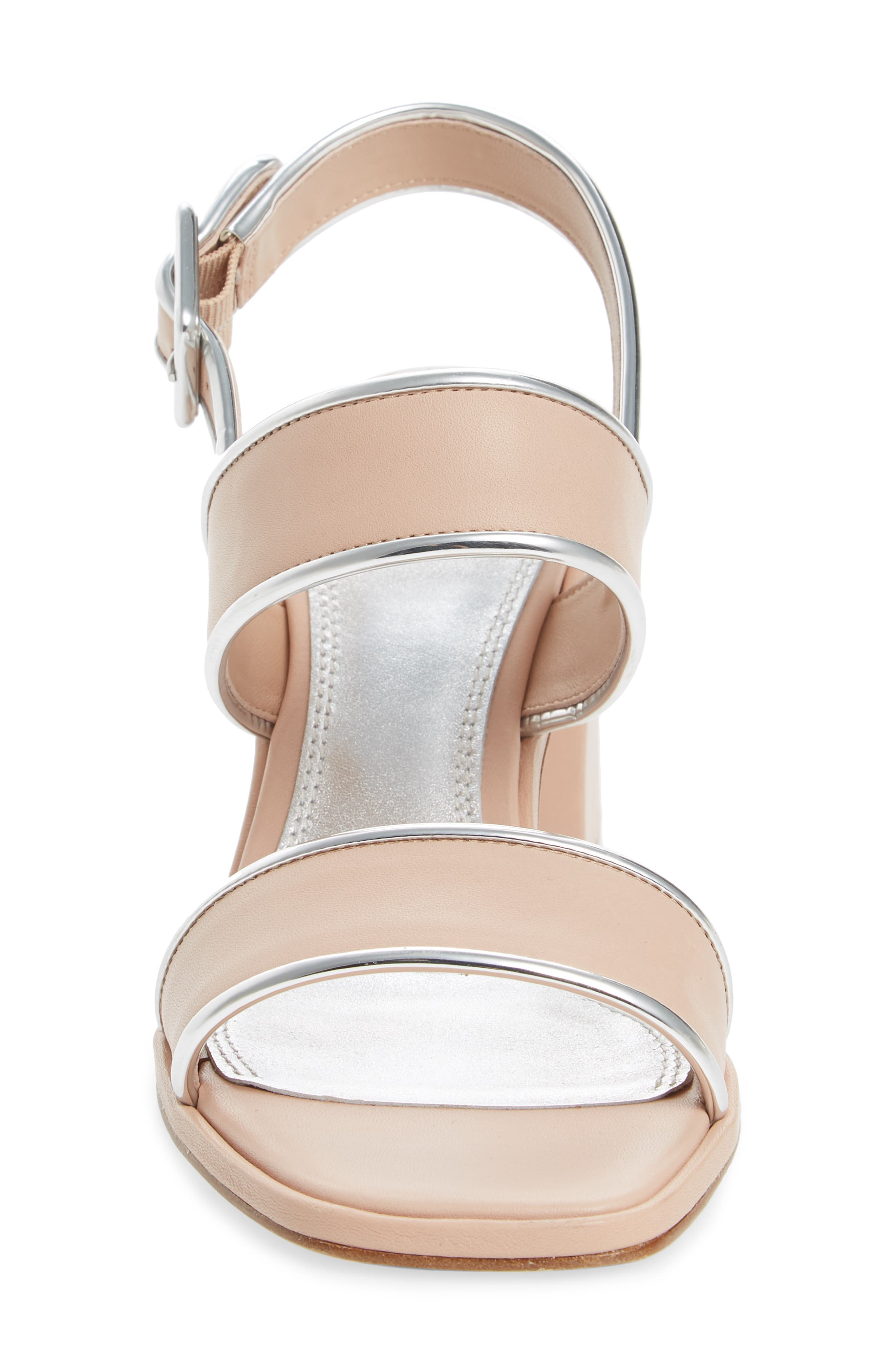 Delaney Double Strap Sandal,                             Alternate thumbnail 4, color,                             Goan Sand/ Silver