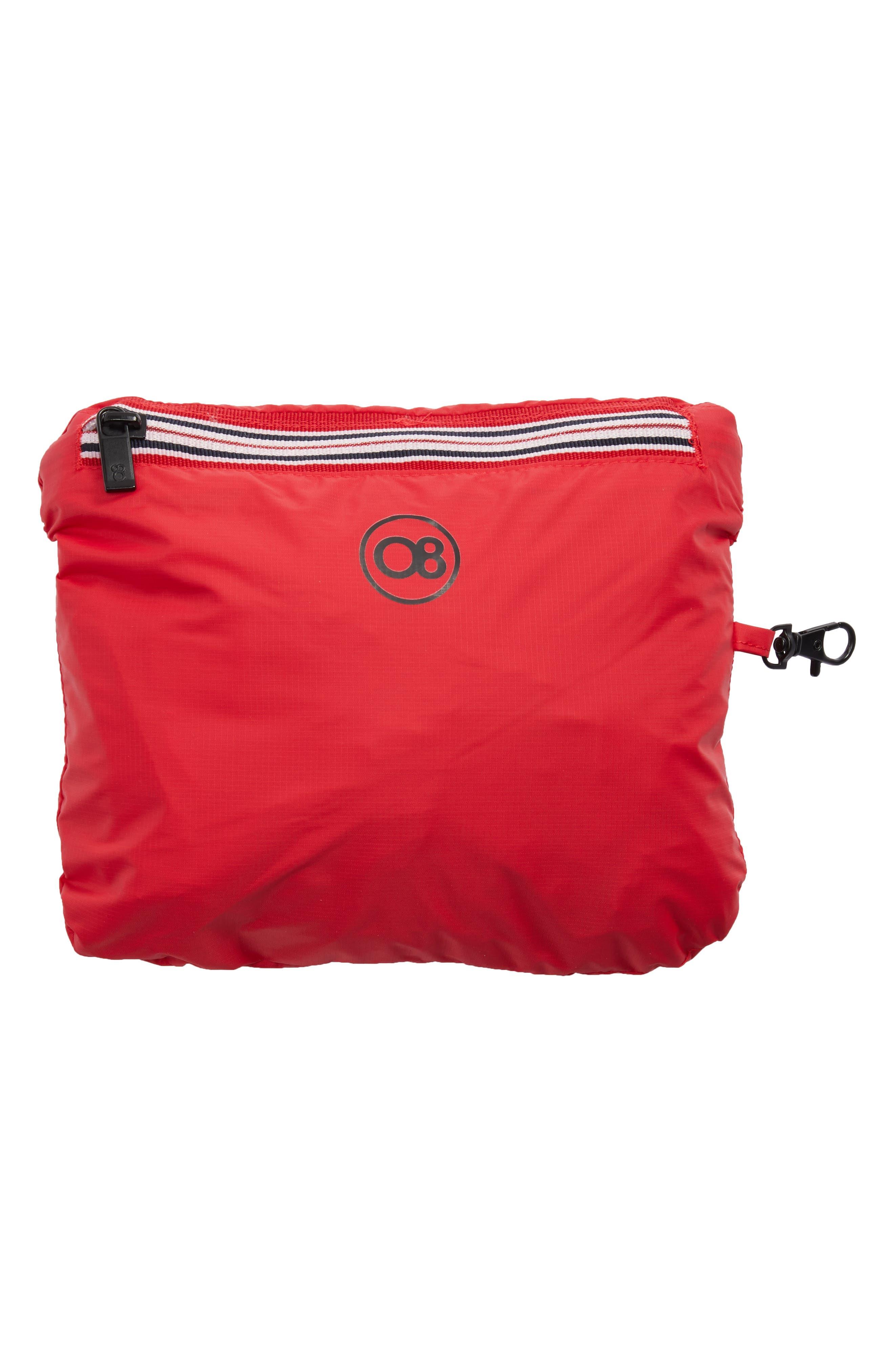 Packable Rain Jacket,                             Alternate thumbnail 6, color,                             Red