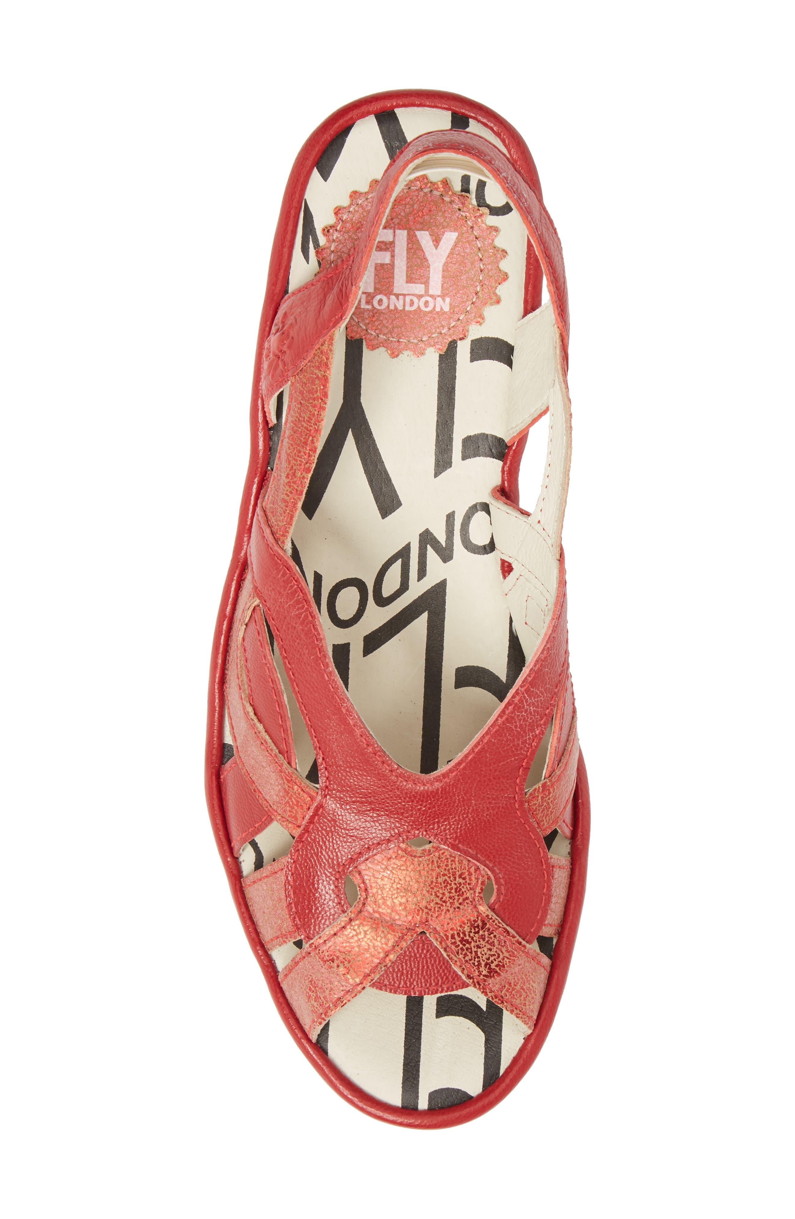 Pima Sandal,                             Alternate thumbnail 5, color,                             Red Mix Leather