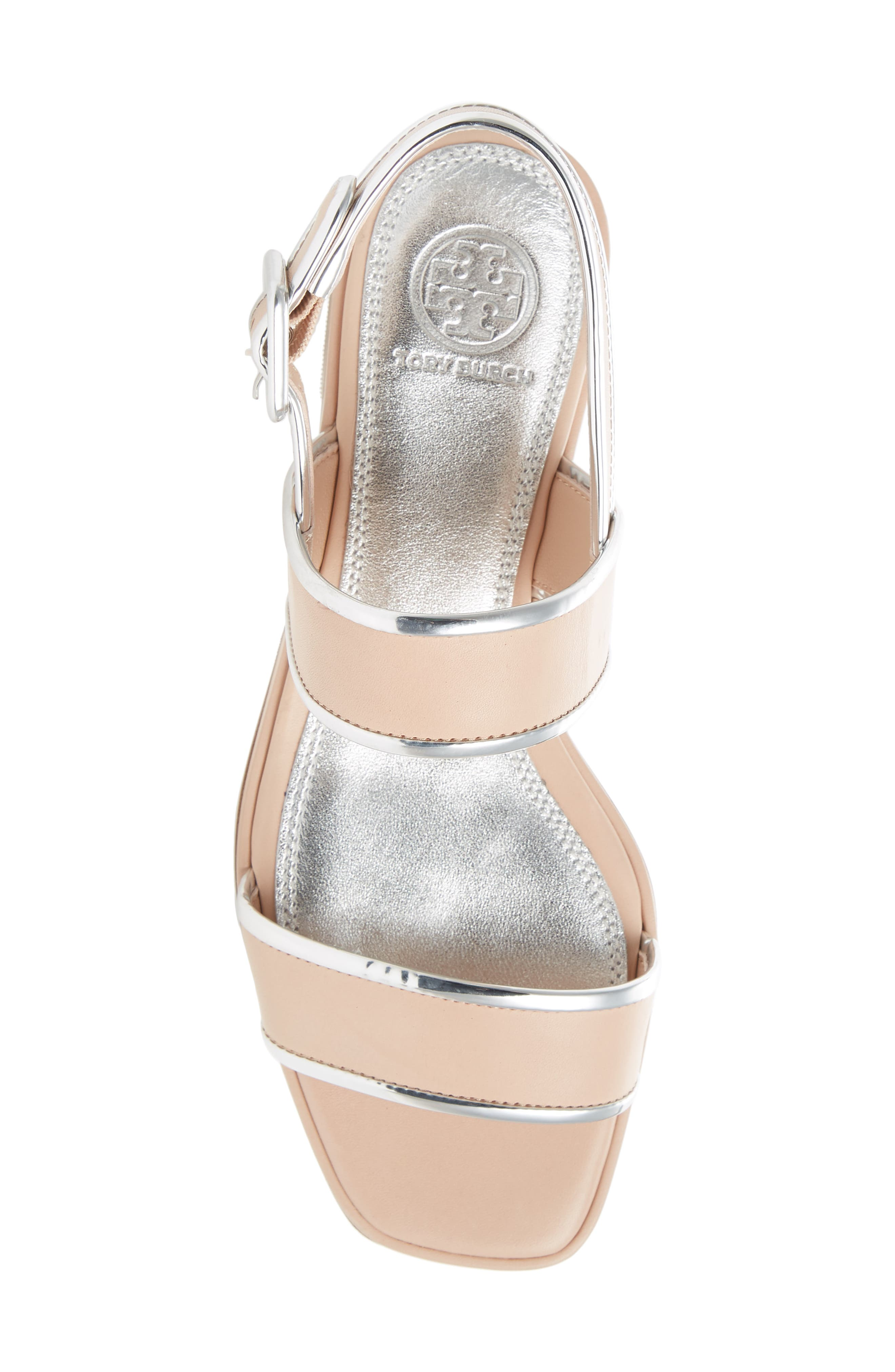 Delaney Double Strap Sandal,                             Alternate thumbnail 5, color,                             Goan Sand/ Silver