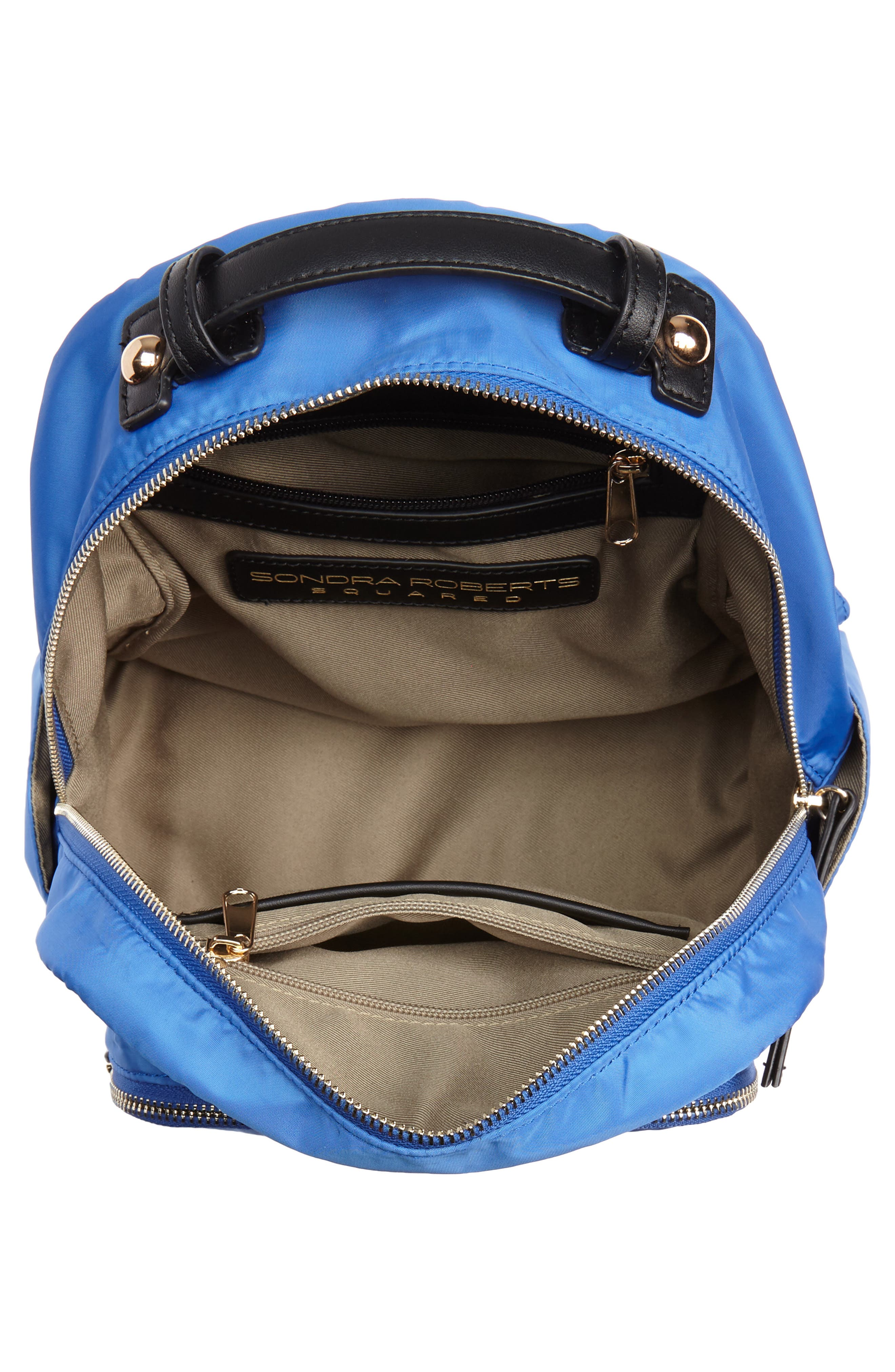 Nylon Backpack,                             Alternate thumbnail 4, color,                             Cobalt