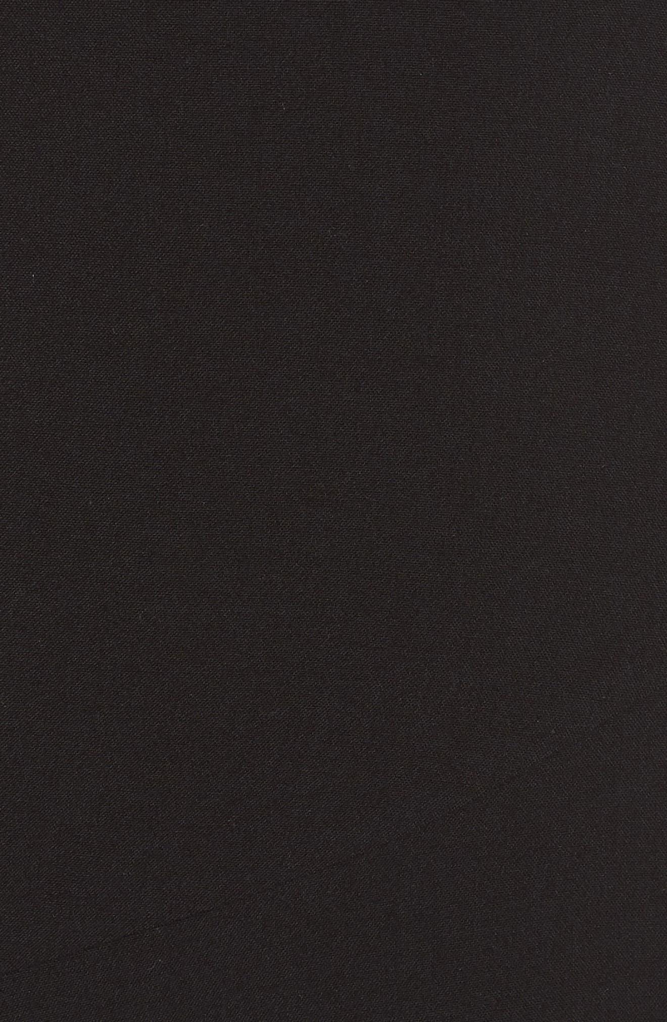 Fame & Partners The Hazel Front Slit Gown,                             Alternate thumbnail 5, color,                             Black