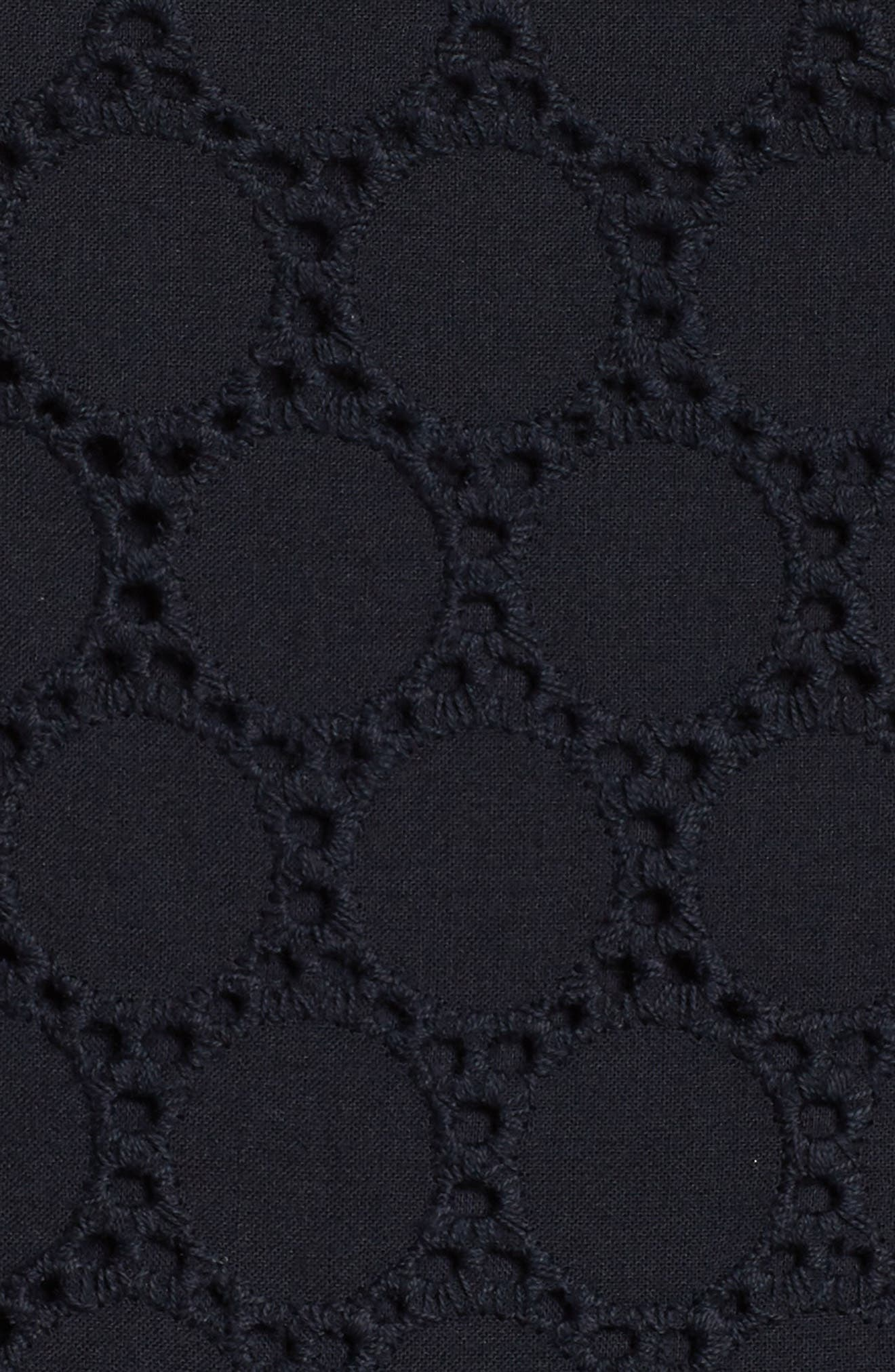 Ribbon Strap Cotton Jumpsuit,                             Alternate thumbnail 6, color,                             Navy