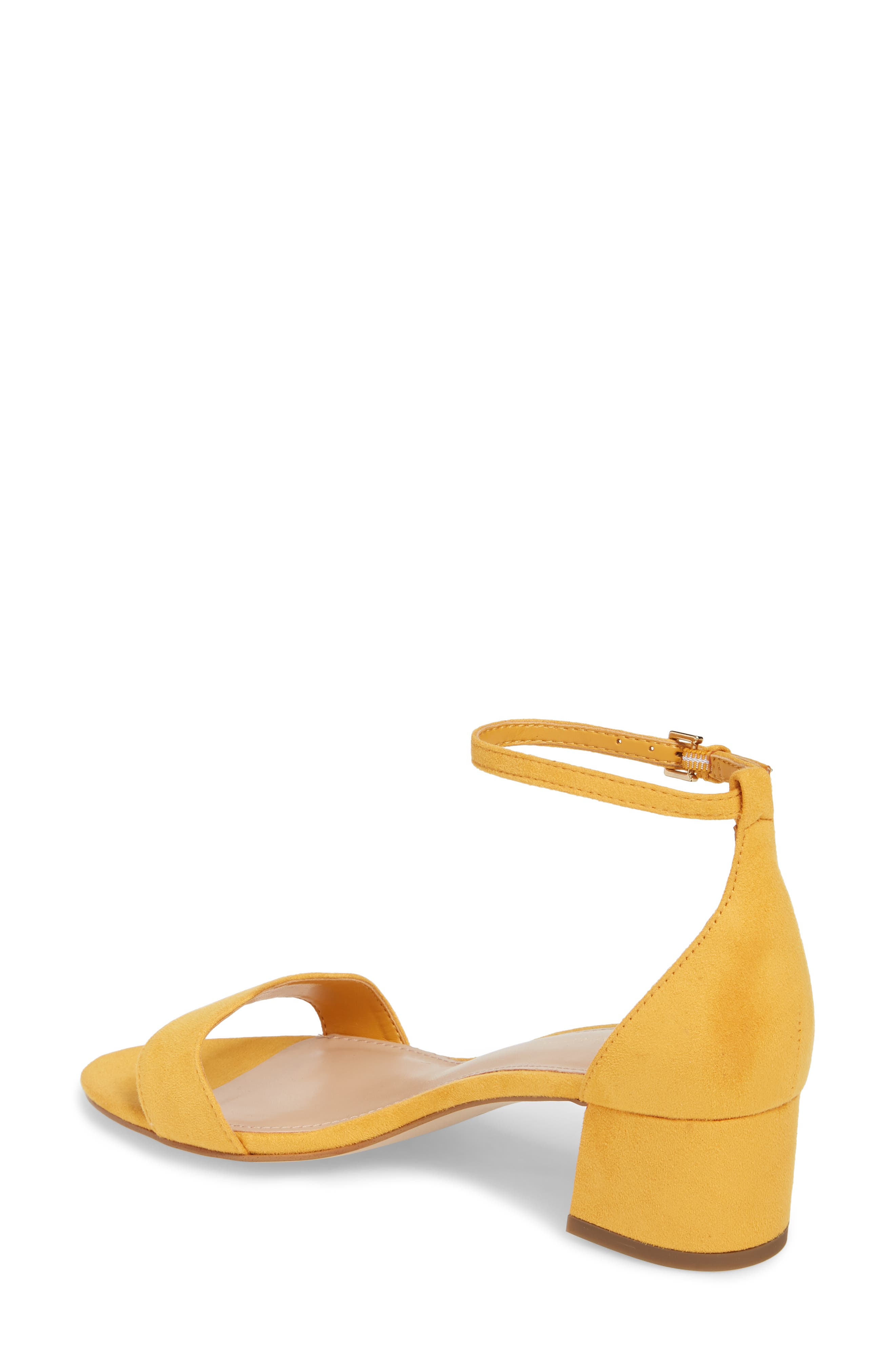 Farlyn Ankle Strap Sandal,                             Alternate thumbnail 2, color,                             Marigold Faux Leather