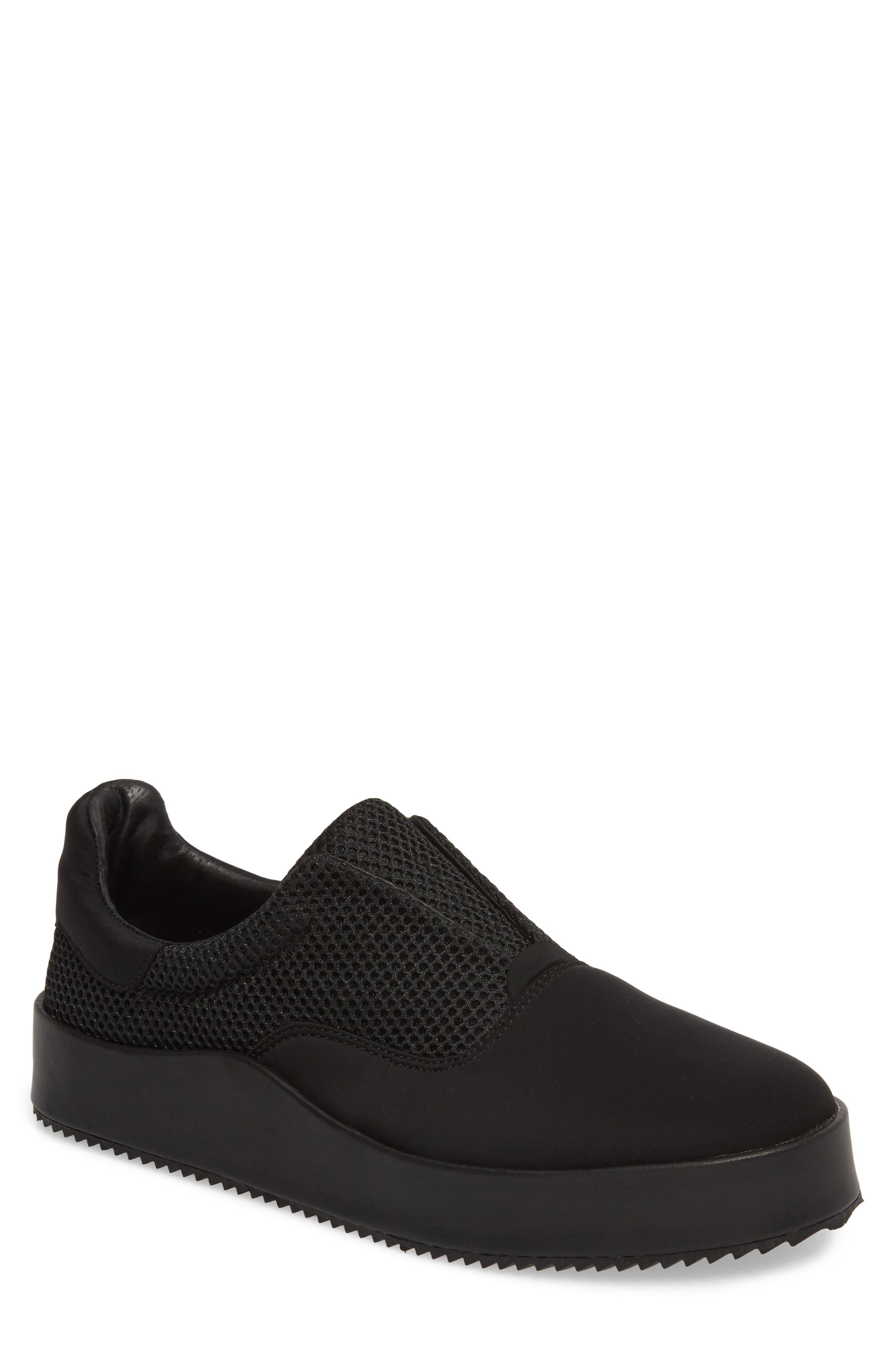 Core Neoprene Skater Laceless Sneaker,                             Main thumbnail 1, color,                             Black Neoprene Fabric