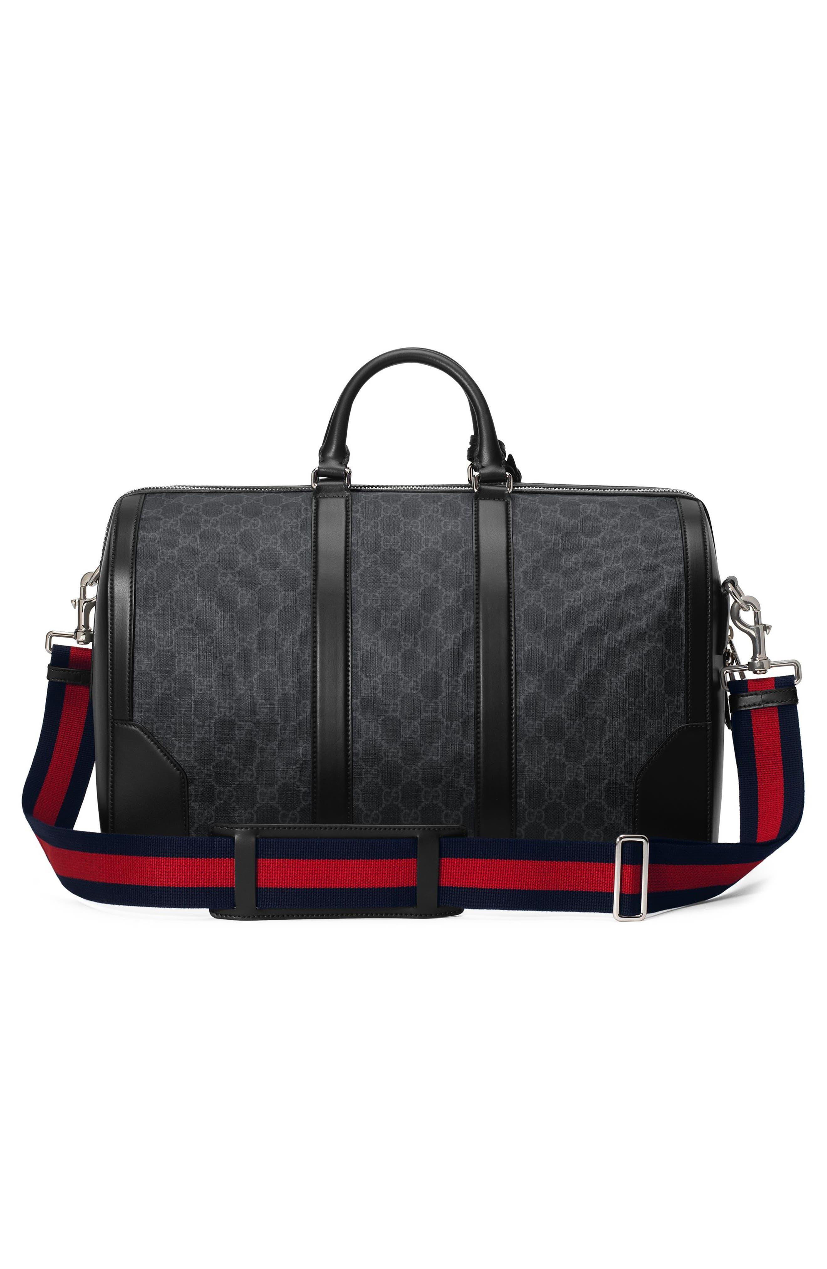 GG Supreme Duffel Bag,                             Alternate thumbnail 2, color,                             Black