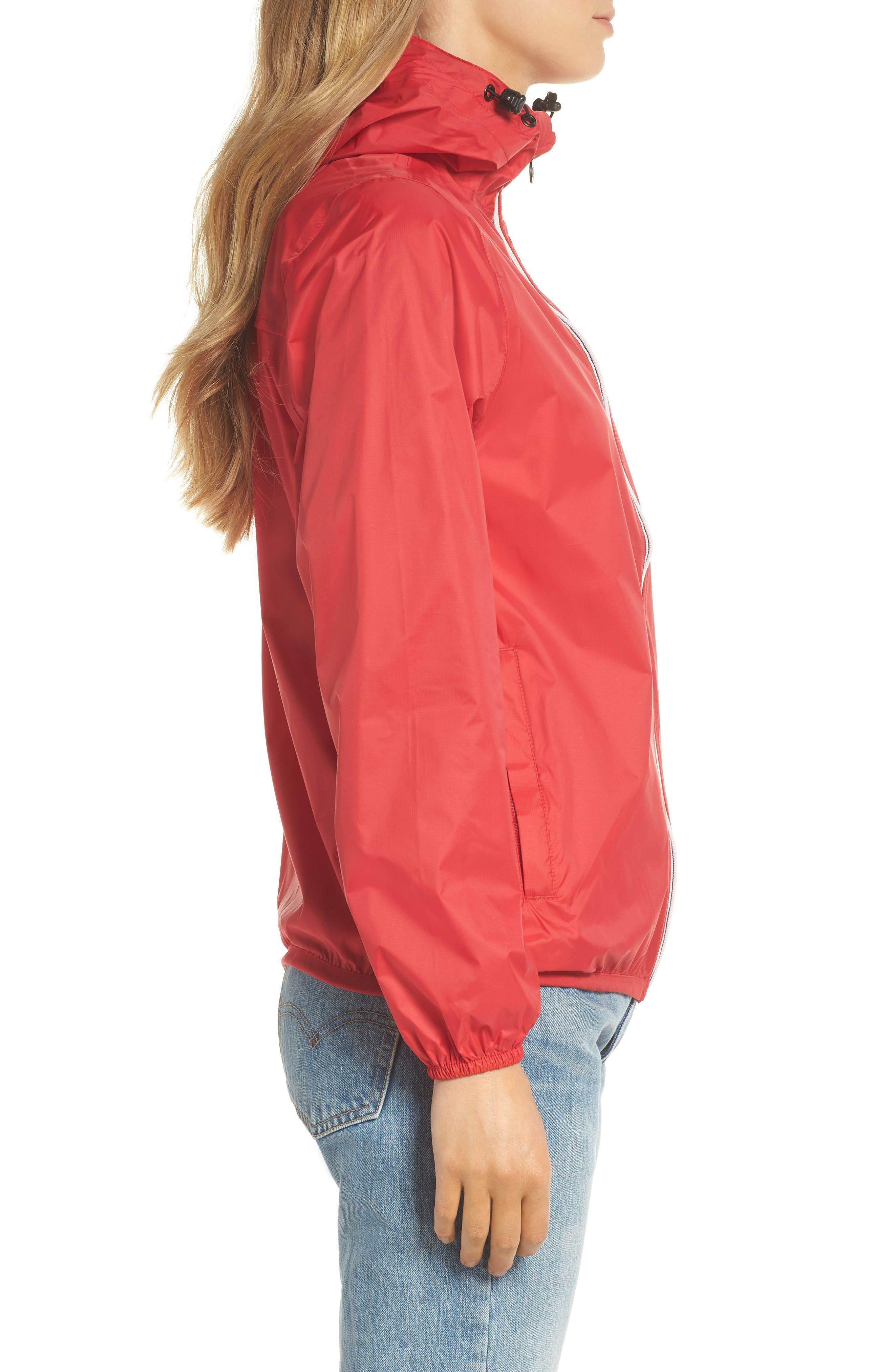 Packable Rain Jacket,                             Alternate thumbnail 3, color,                             Red