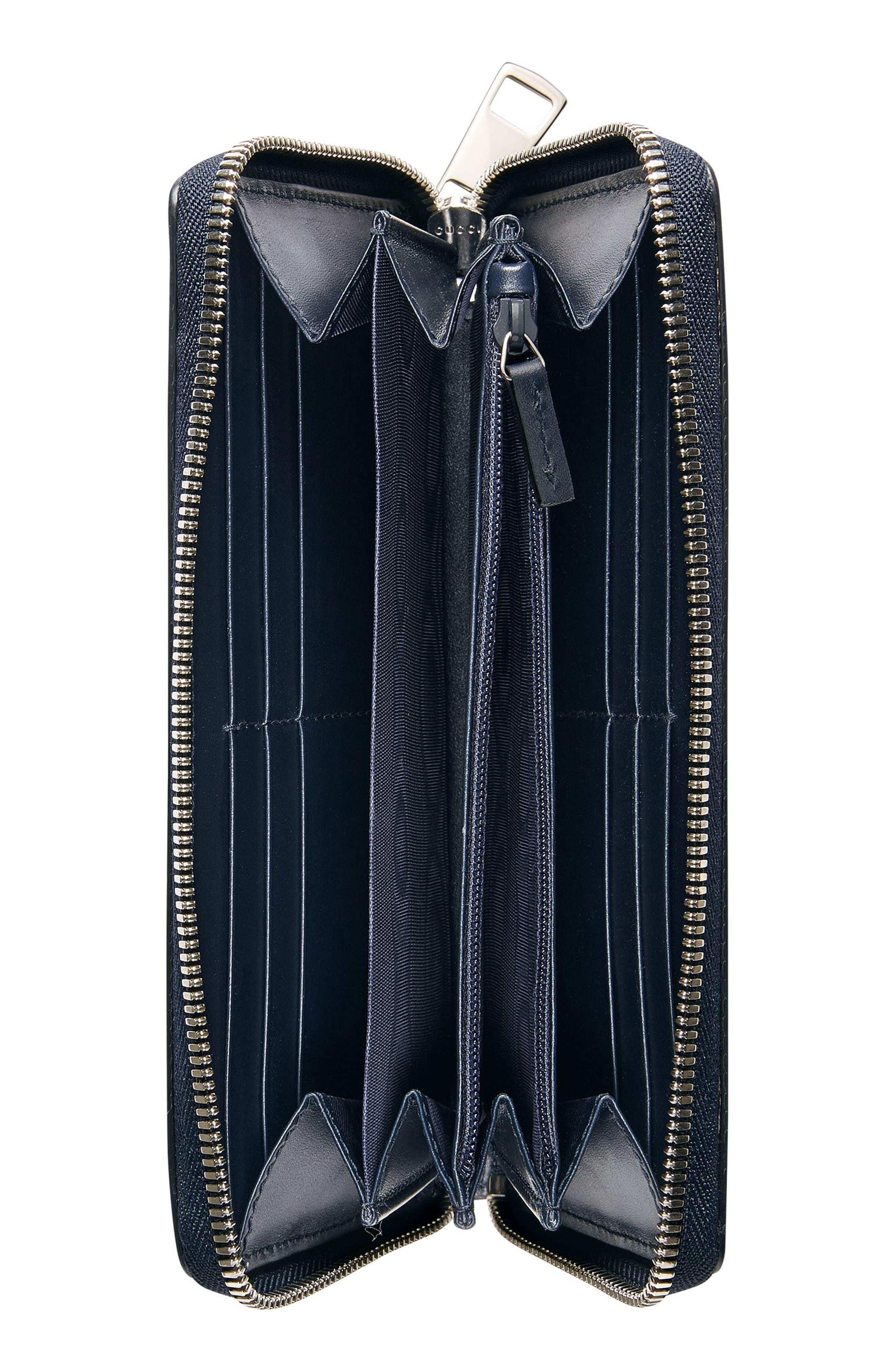 Dorian Leather Wallet,                             Alternate thumbnail 3, color,                             Blue