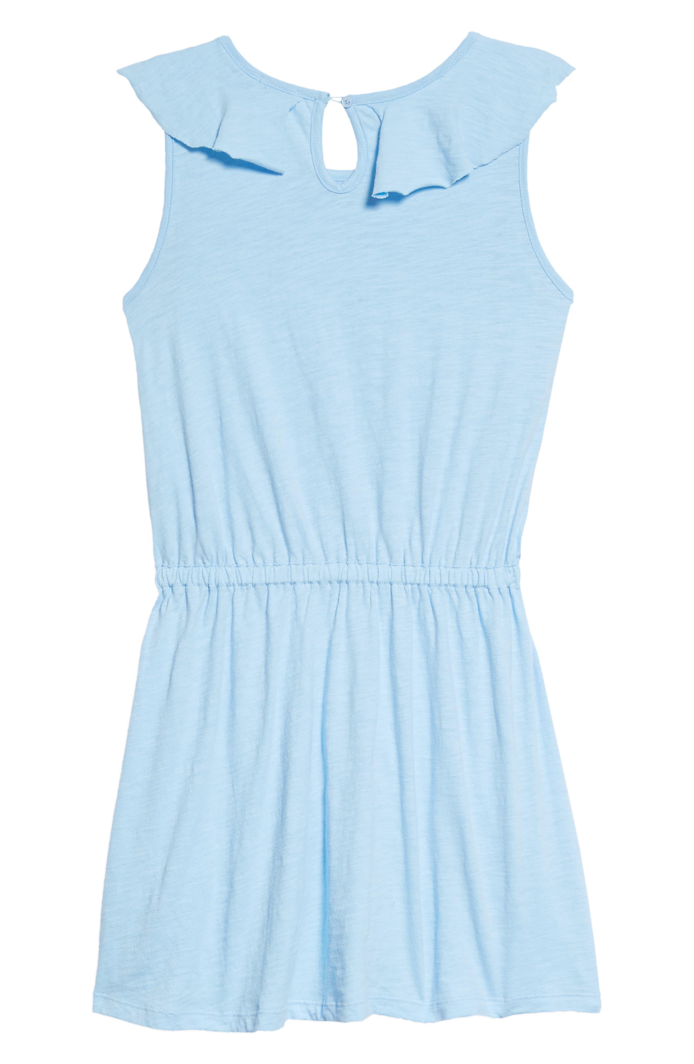 Flounce Dress,                             Alternate thumbnail 2, color,                             Blue Bell