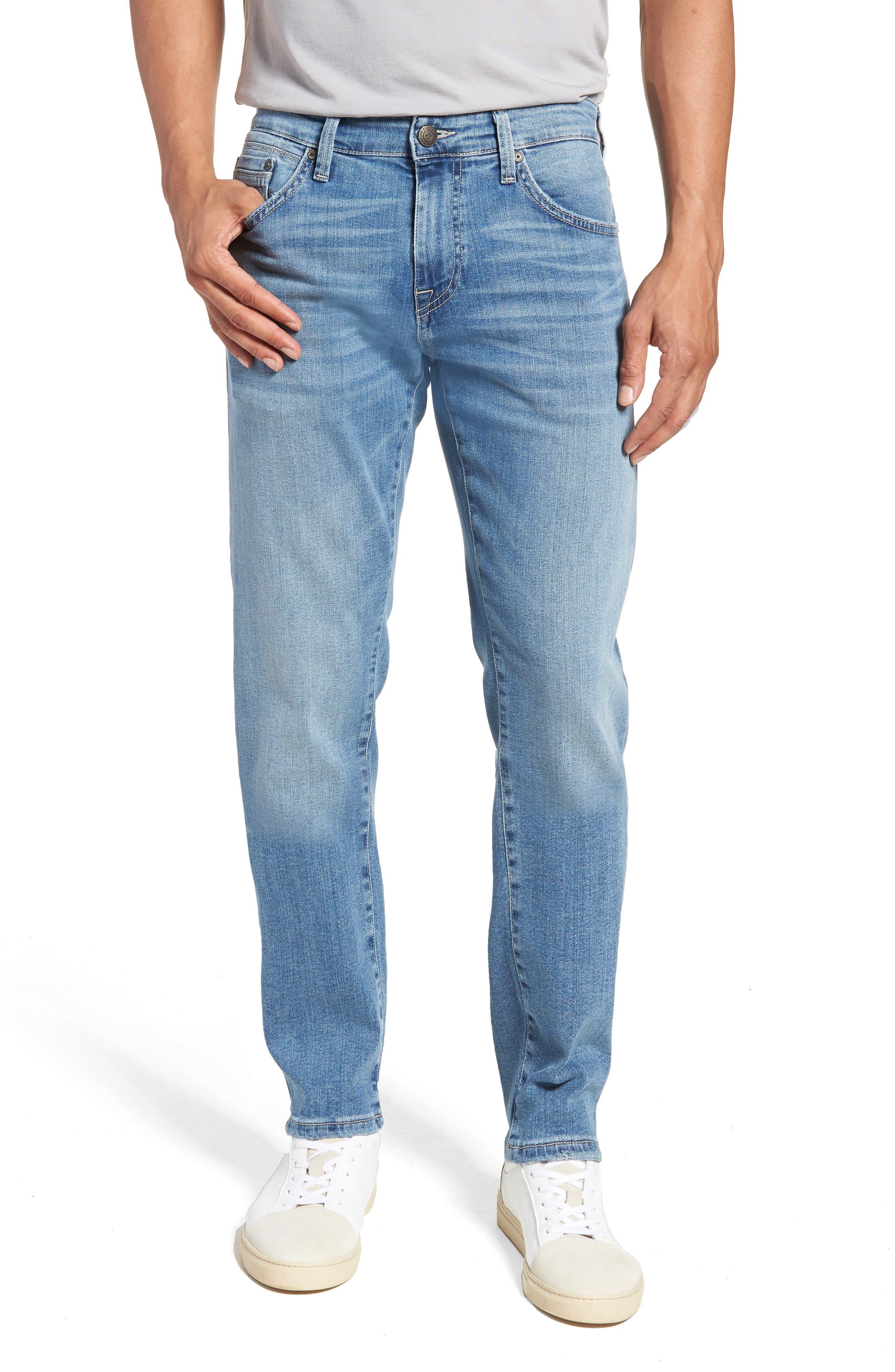 Jake Slim Fit Jeans,                             Main thumbnail 1, color,                             Light Blue Willamsburg