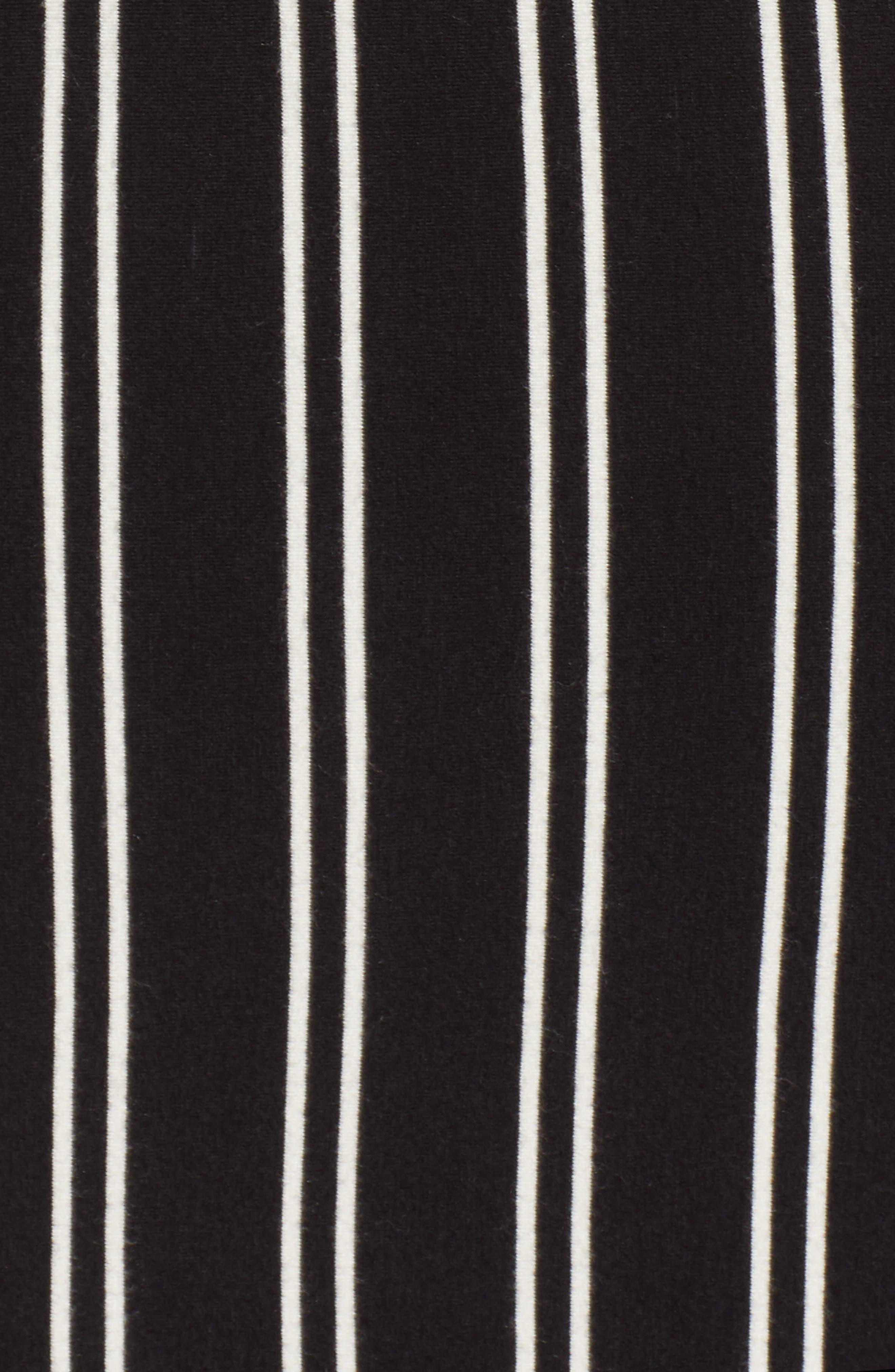 Lockette Strappy Striped Dress,                             Alternate thumbnail 6, color,                             Jet Black Multi