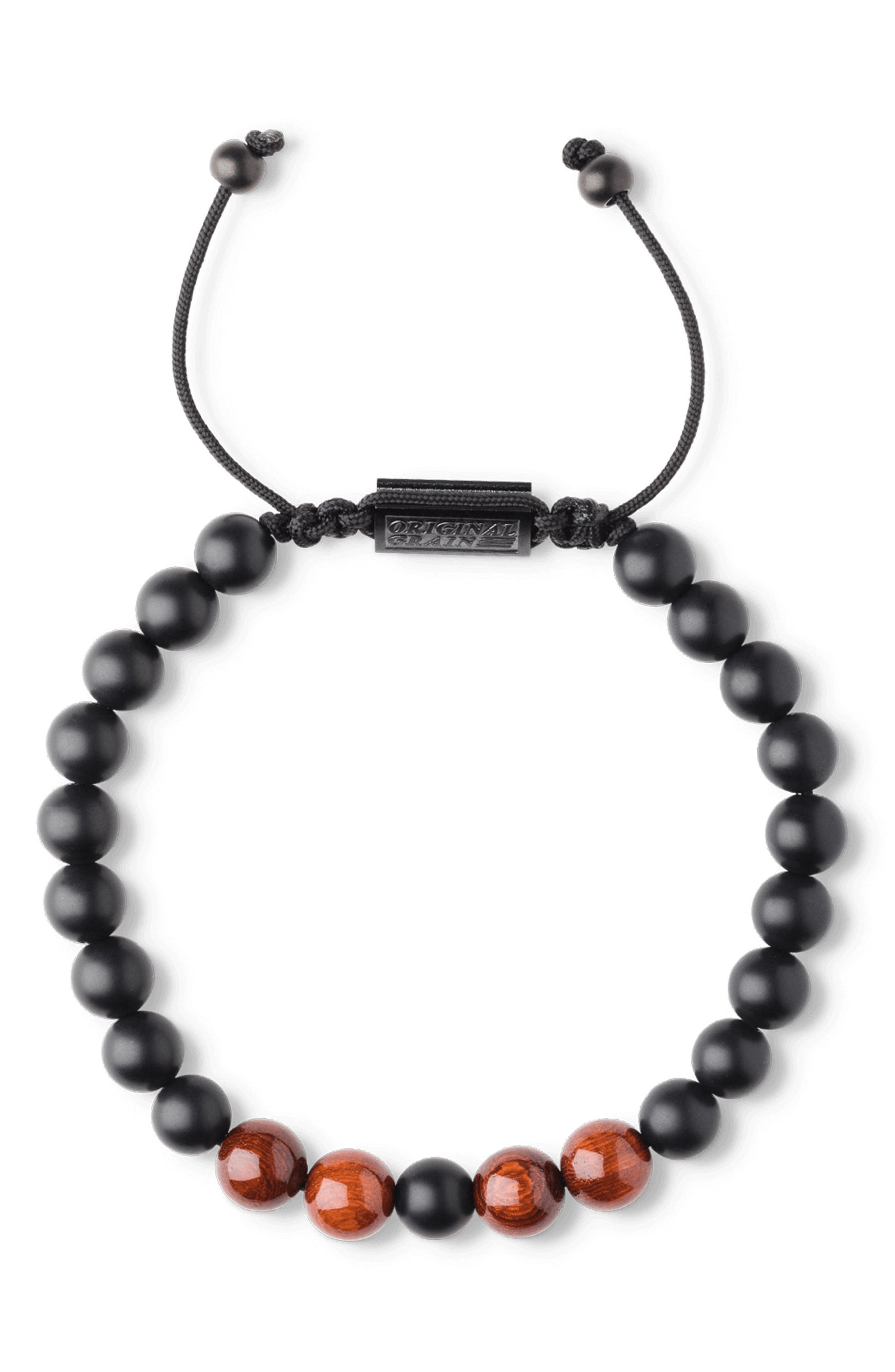 Bead Bracelet,                             Alternate thumbnail 2, color,                             Rosewood Onyx