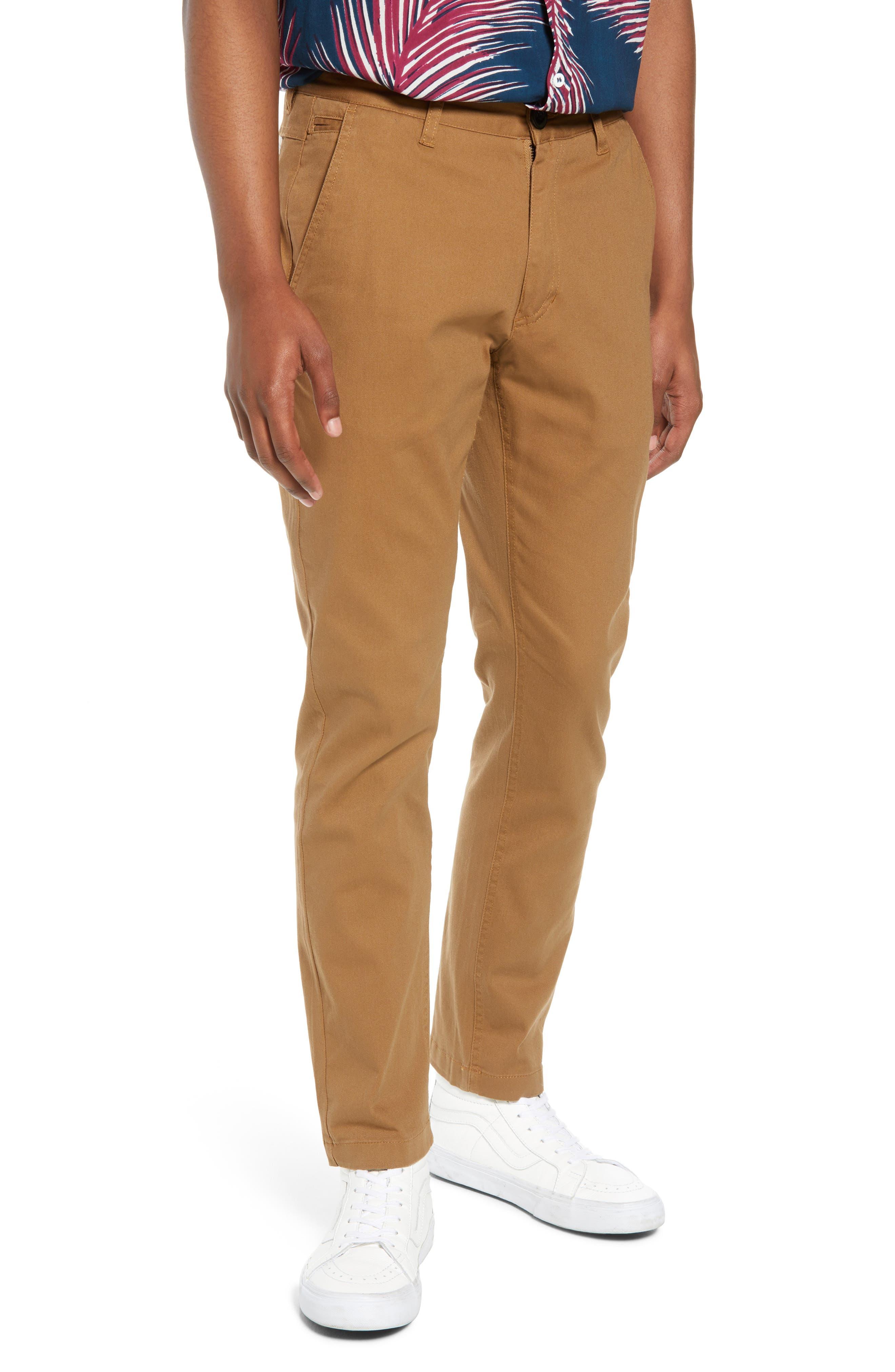 Crossroad Slim Fit Pants,                         Main,                         color, Khaki