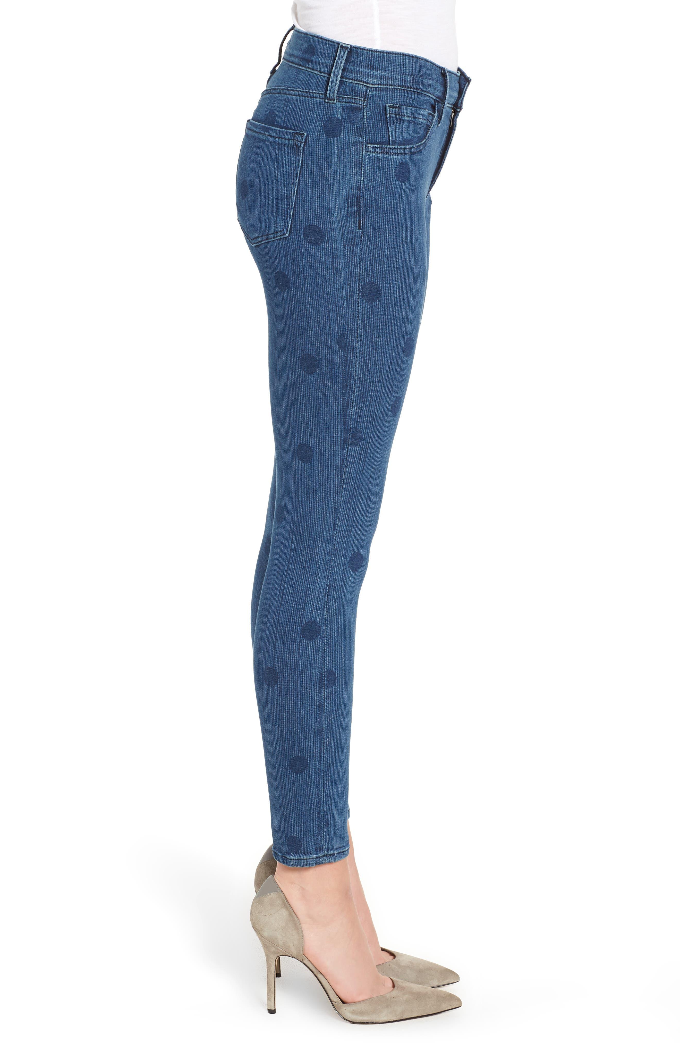 835 Capri Skinny Jeans,                             Alternate thumbnail 3, color,                             Aerial