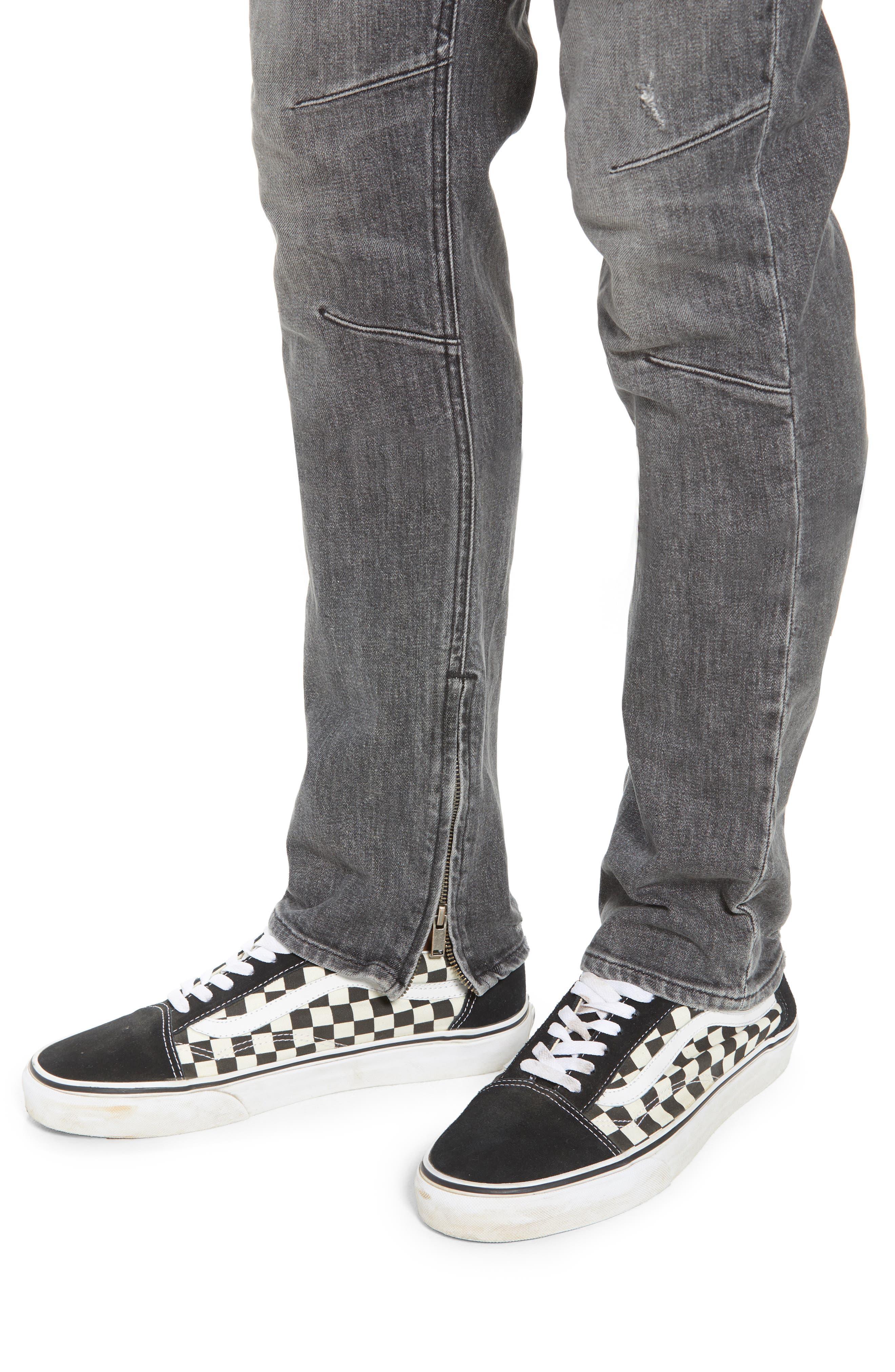 Vaughn Biker Skinny Fit Jeans,                             Alternate thumbnail 4, color,                             Kingpin