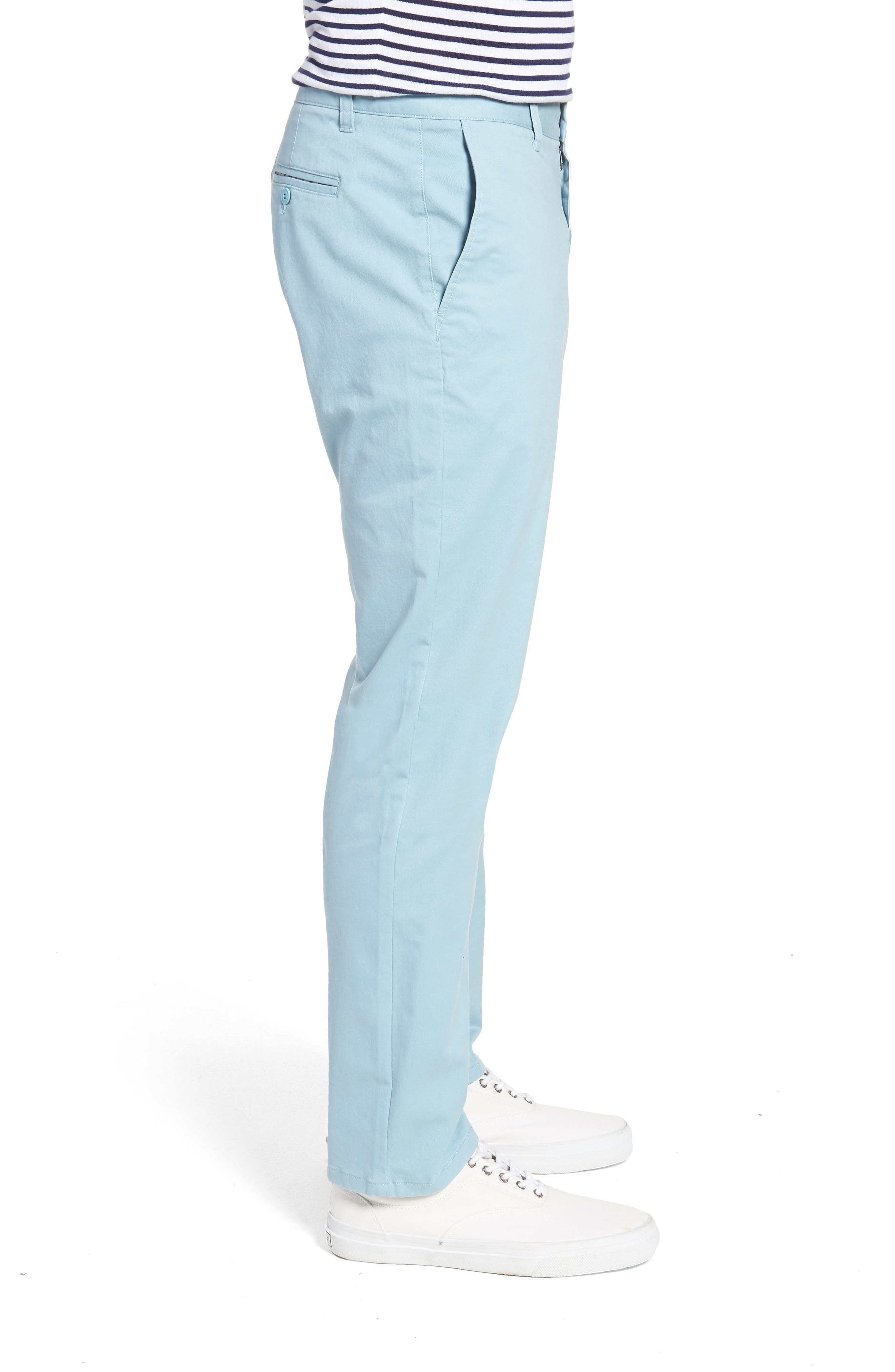 Slim Fit Stretch Washed Chinos,                             Alternate thumbnail 3, color,                             Yucca Blue