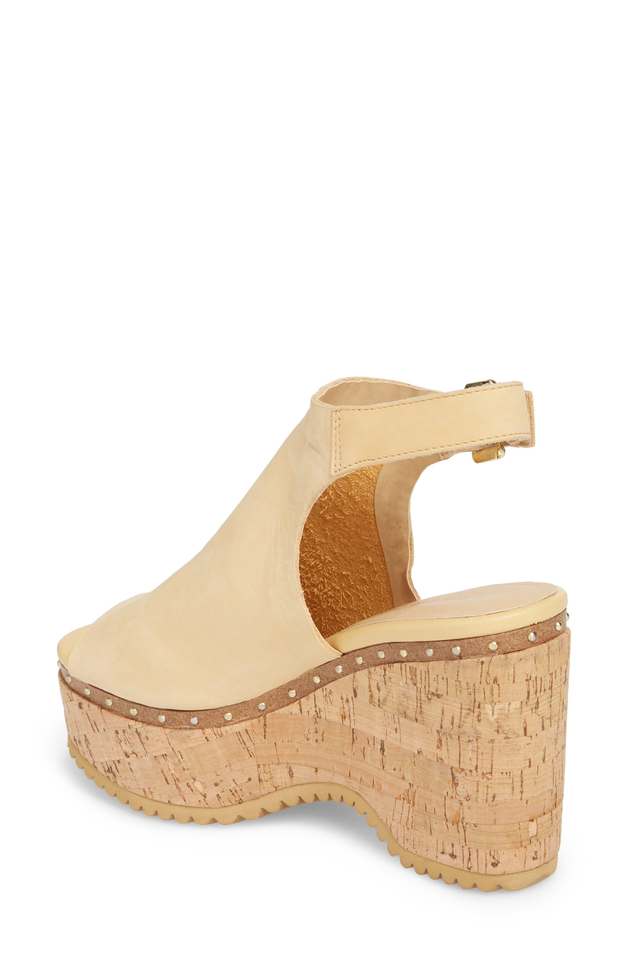 Trinity Studded Platform Sandal,                             Alternate thumbnail 2, color,                             Cream