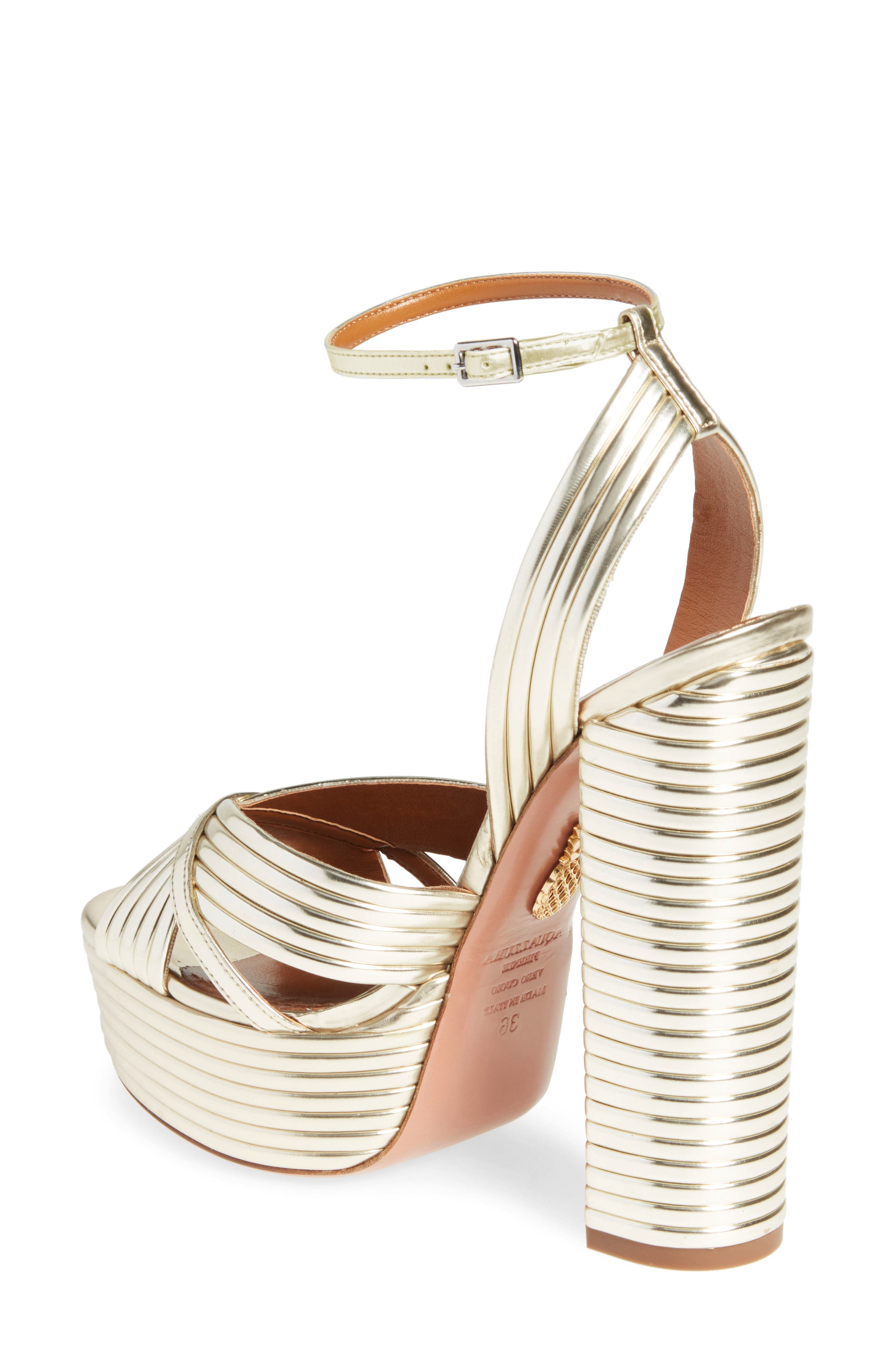 Sundance Platform Sandal,                             Alternate thumbnail 2, color,                             Light Gold