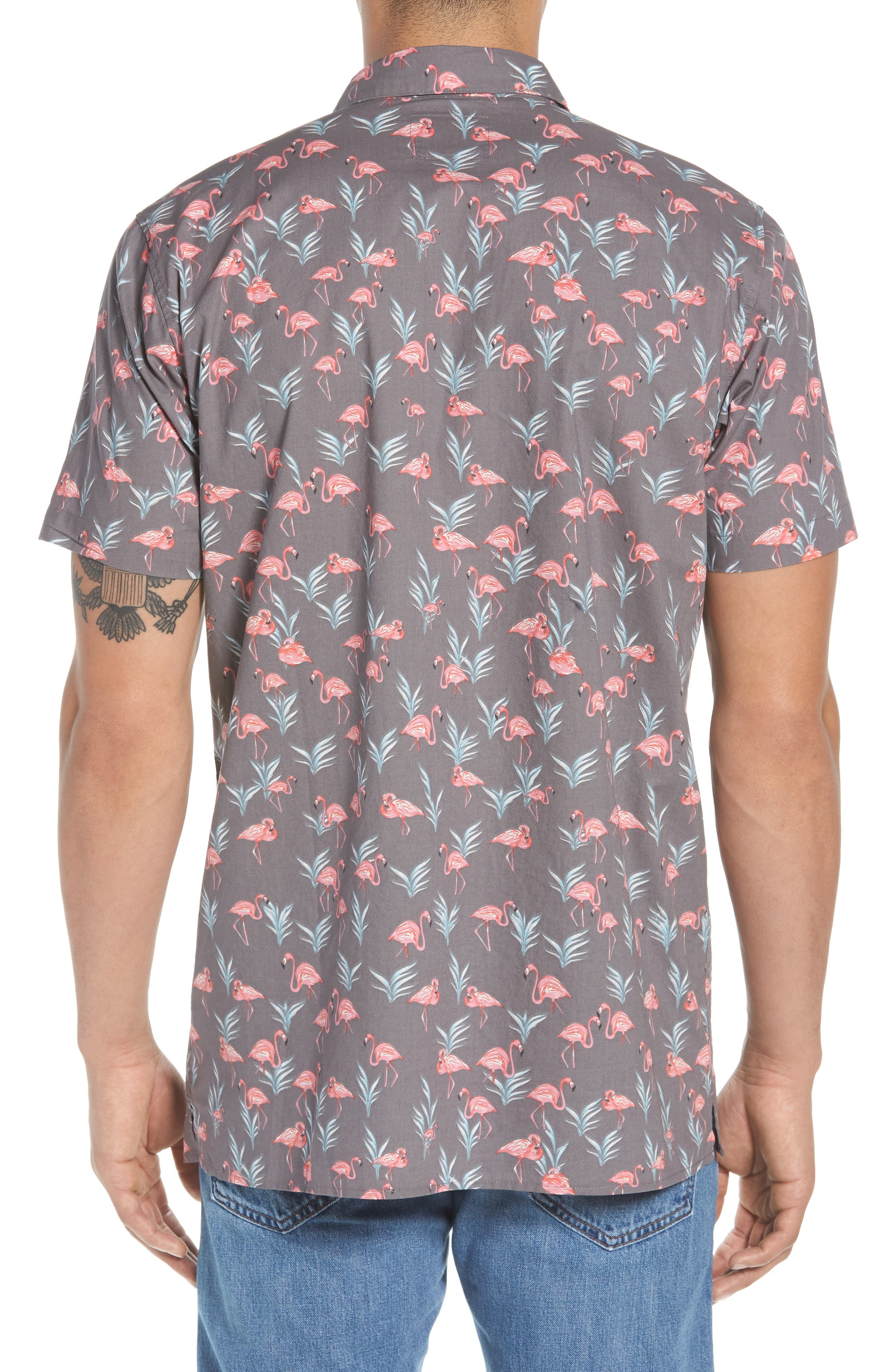 Flaminko Woven Shirt,                             Alternate thumbnail 3, color,                             Black