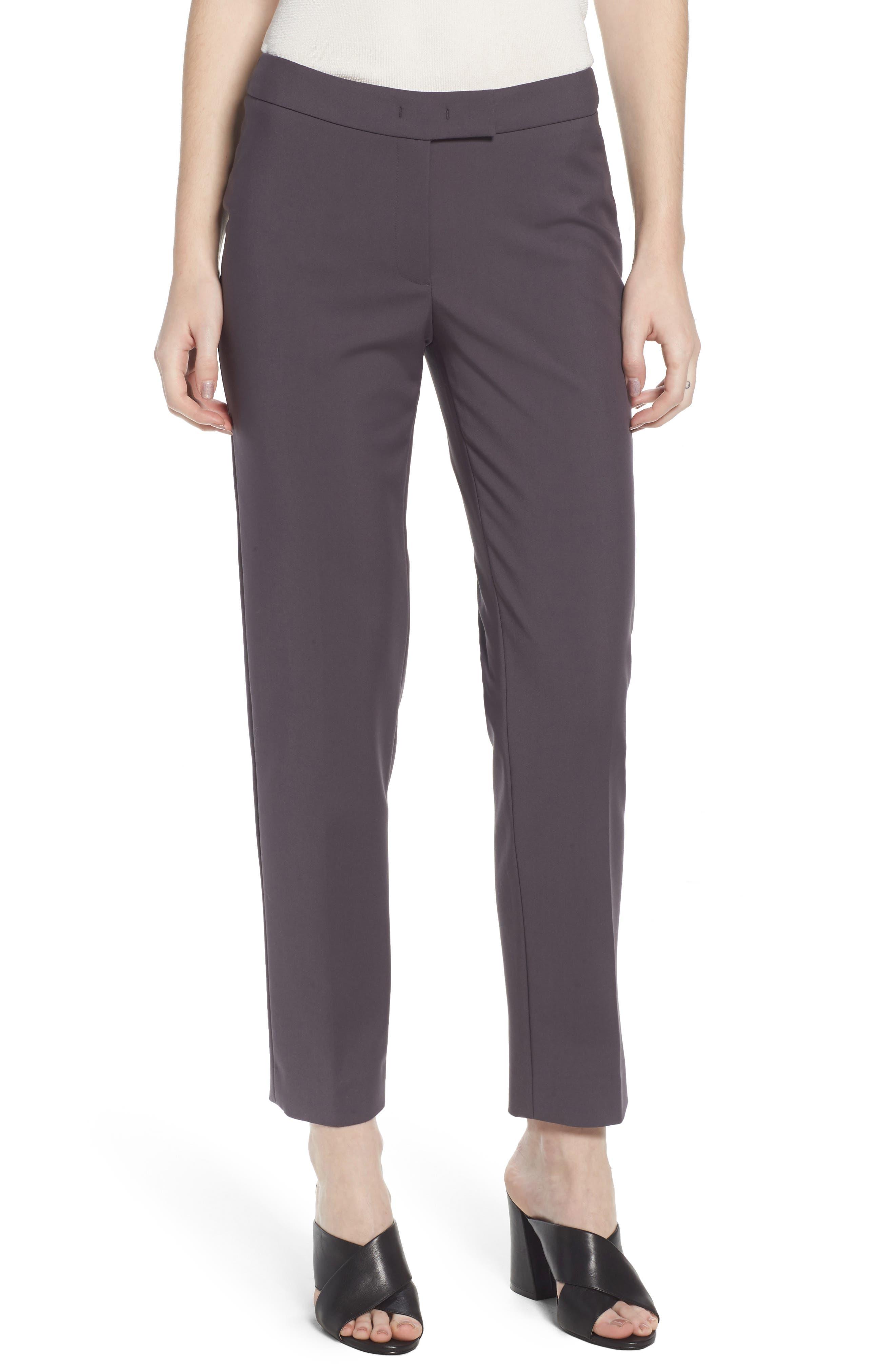 Slim Ankle Pants,                         Main,                         color, Nantucket Grey