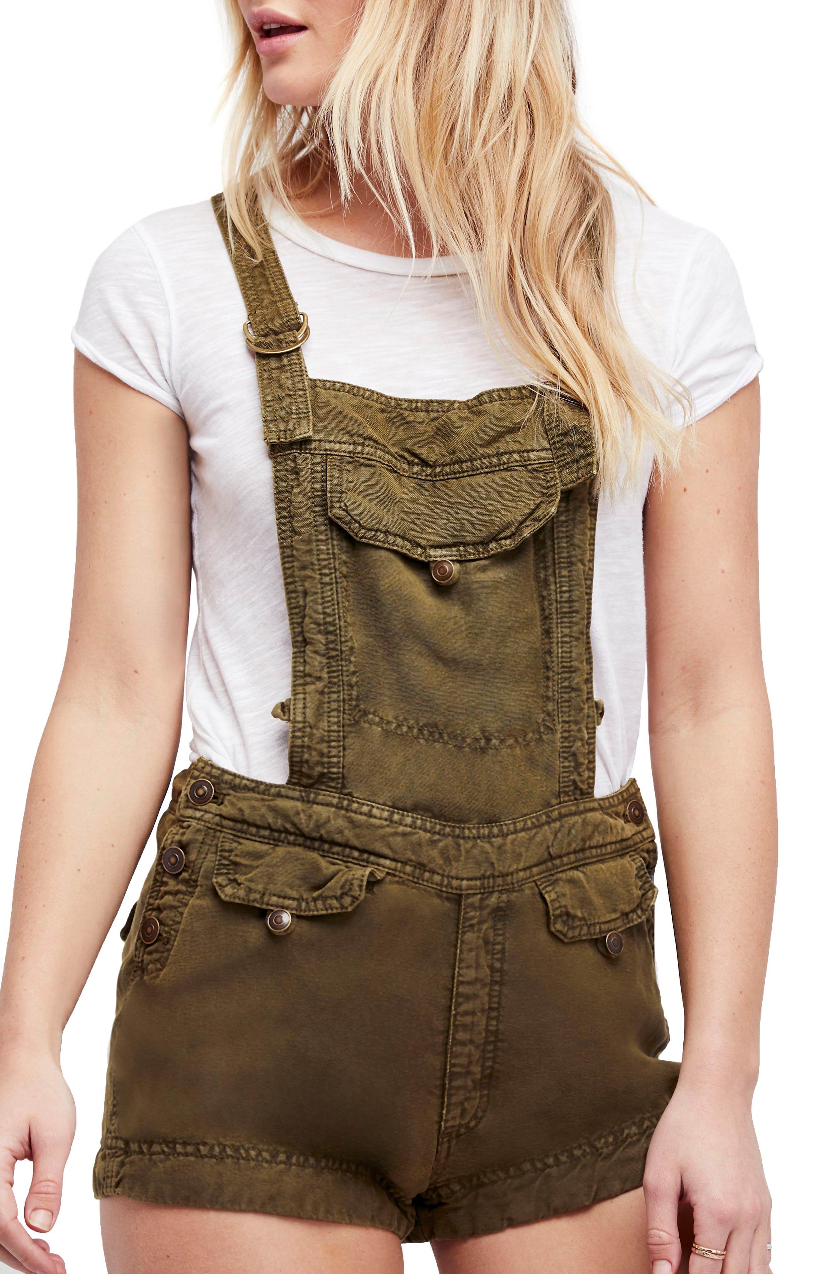 Expedition Short Overalls,                         Main,                         color, Army