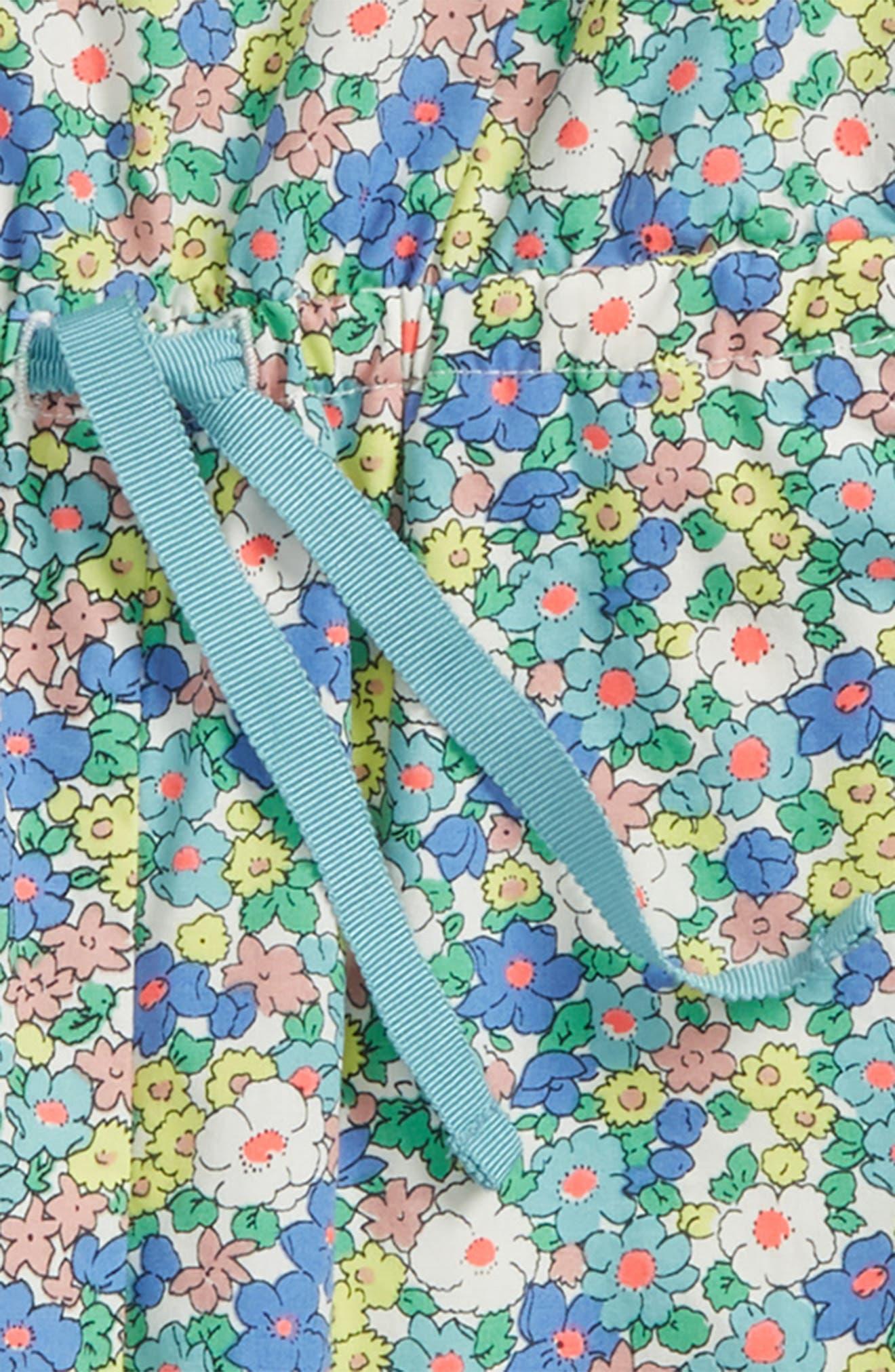 Floral Cotton Jumpsuit,                             Alternate thumbnail 2, color,                             Camper Blue Vintage