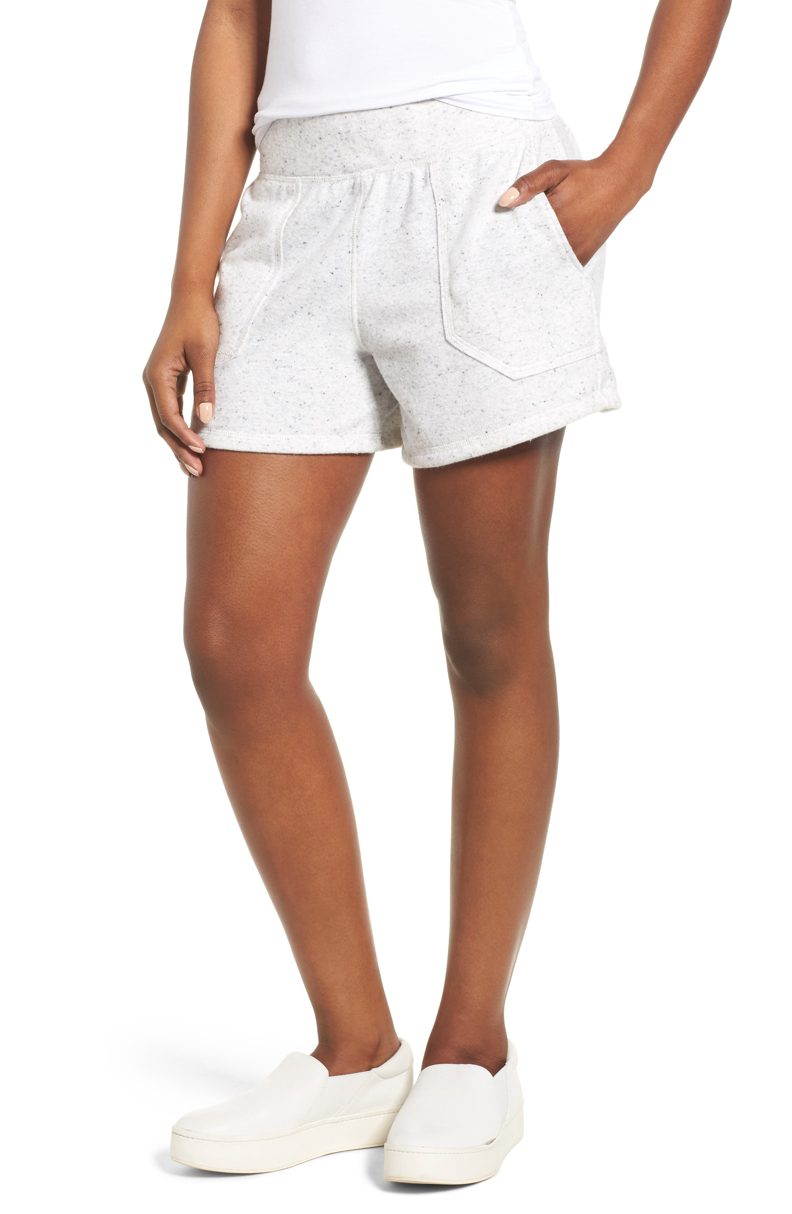 Caslon® Off-Duty French Terry Shorts