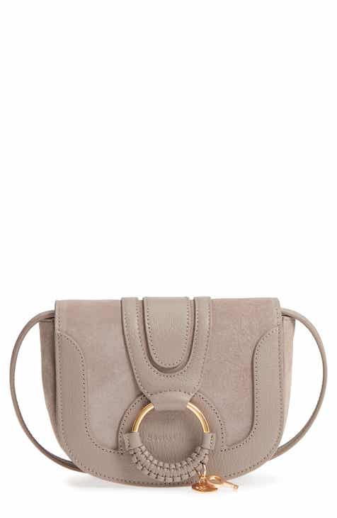 2929b7ab6e009 See by Chloé Mini Hana Leather   Suede Crossbody Bag