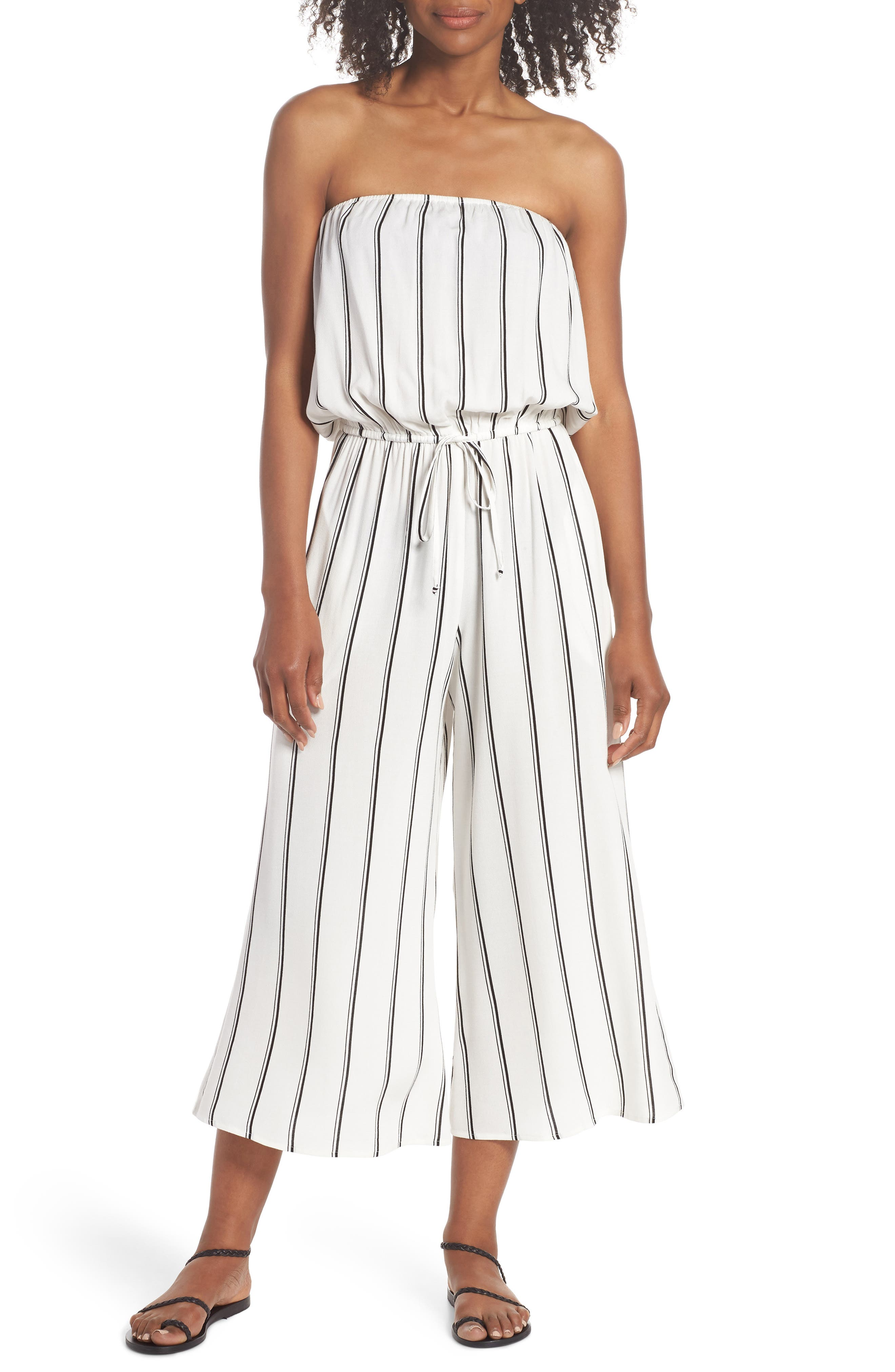 Elan Strapless Cover-Up Jumpsuit