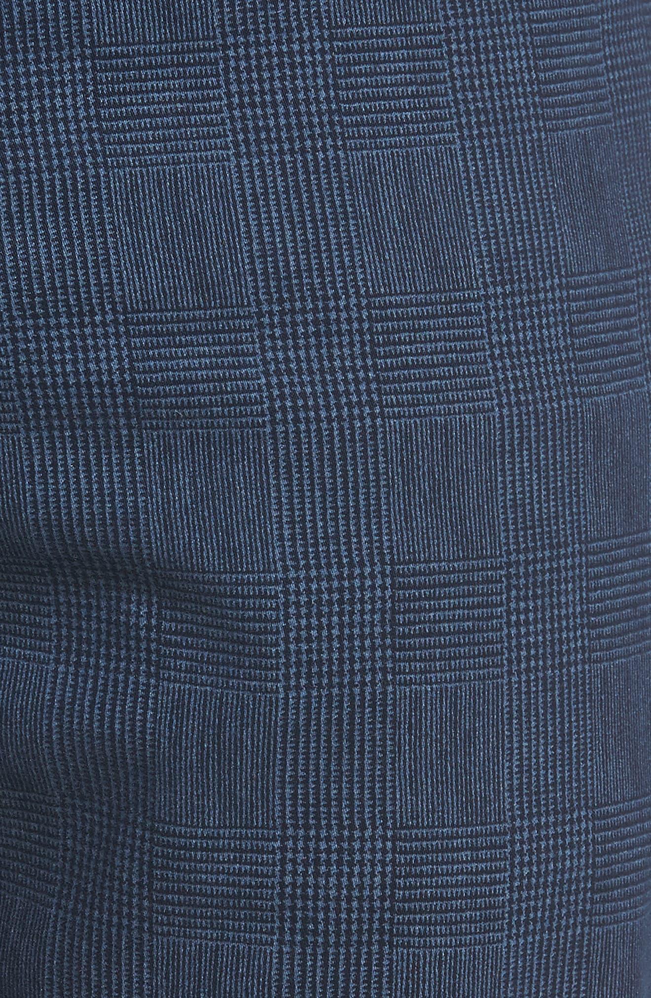 Herringbone Everett SUD Straight Leg Pants,                             Alternate thumbnail 5, color,                             Fine Plaid Blue Vault