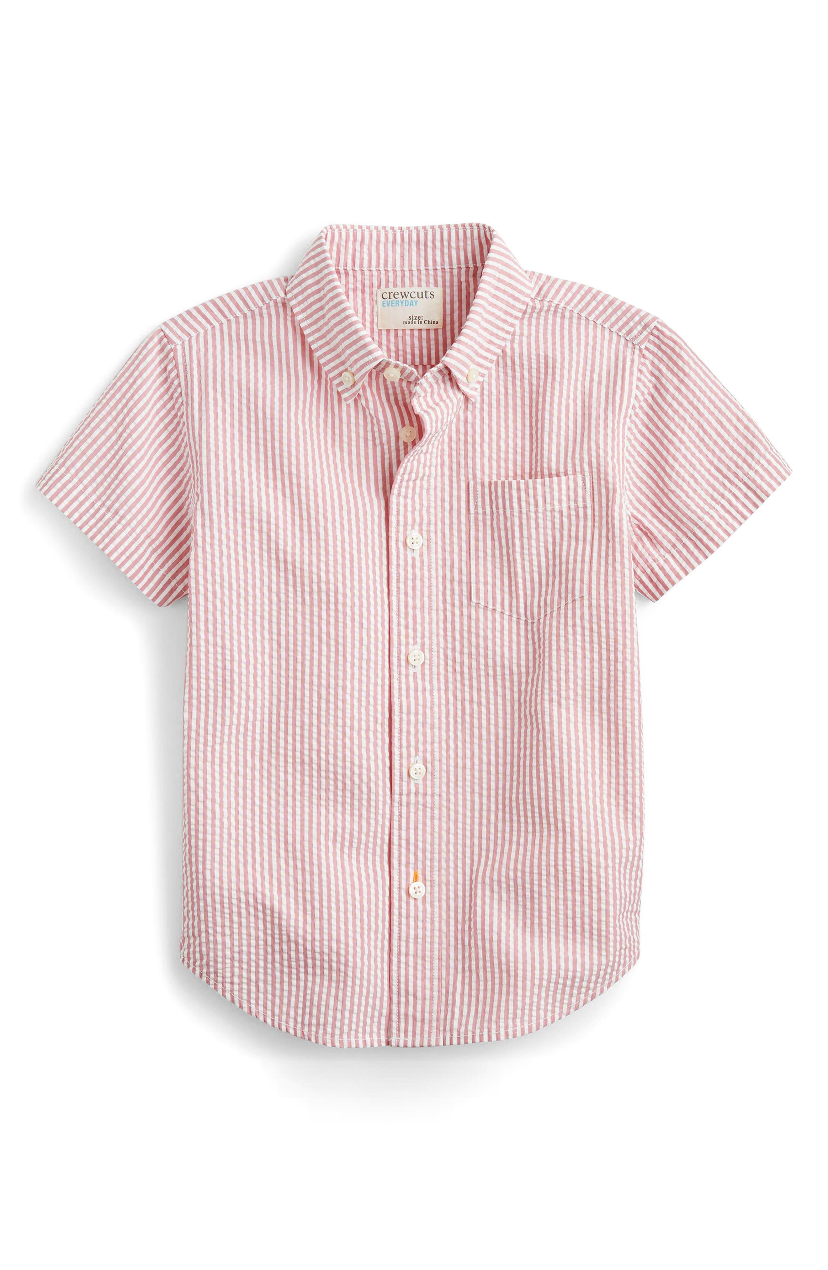Seersucker Shirt,                             Main thumbnail 1, color,                             Vintage Pink