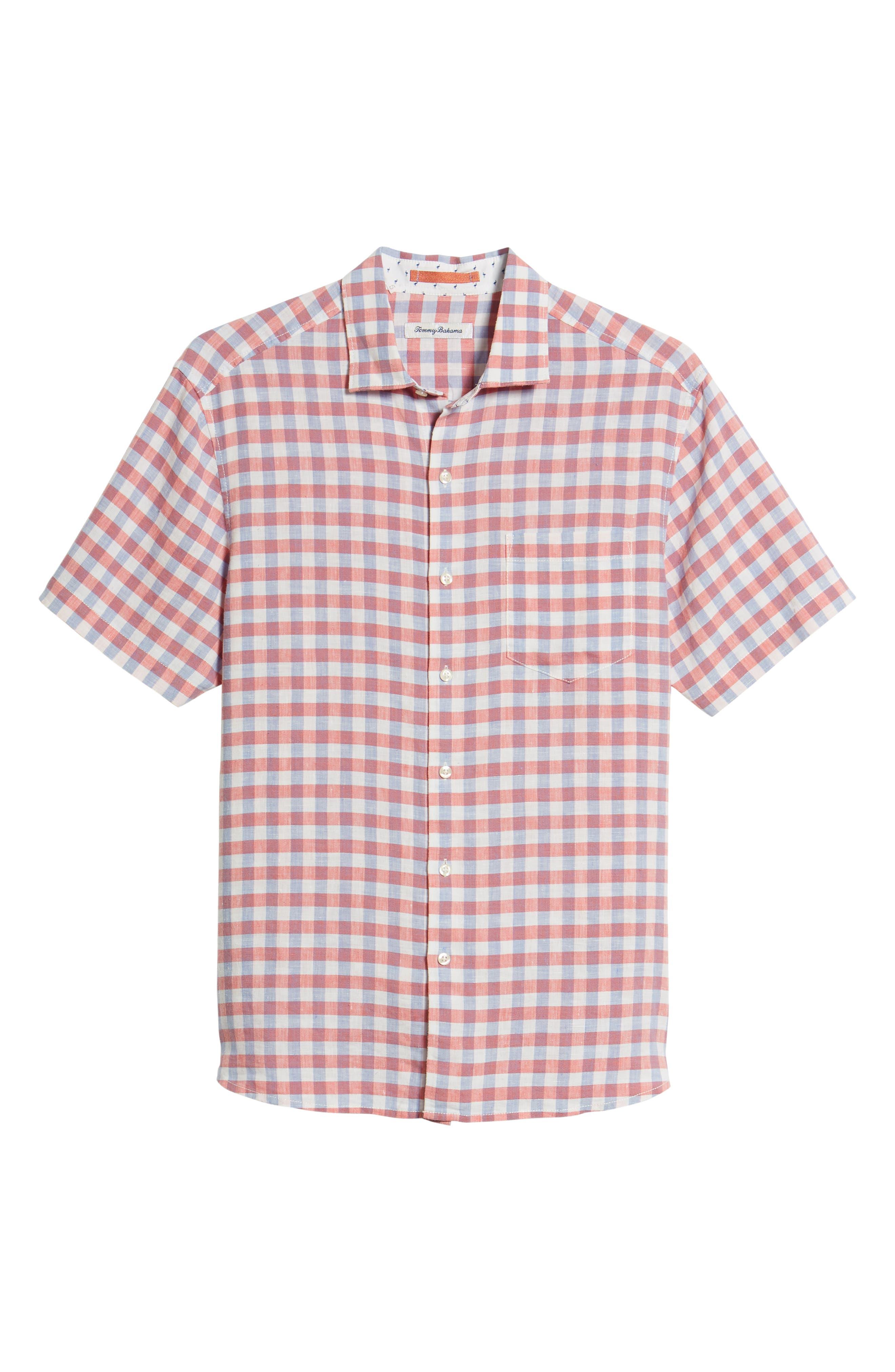 Diego Fronds Check Sport Shirt,                             Alternate thumbnail 6, color,                             Deep Morel