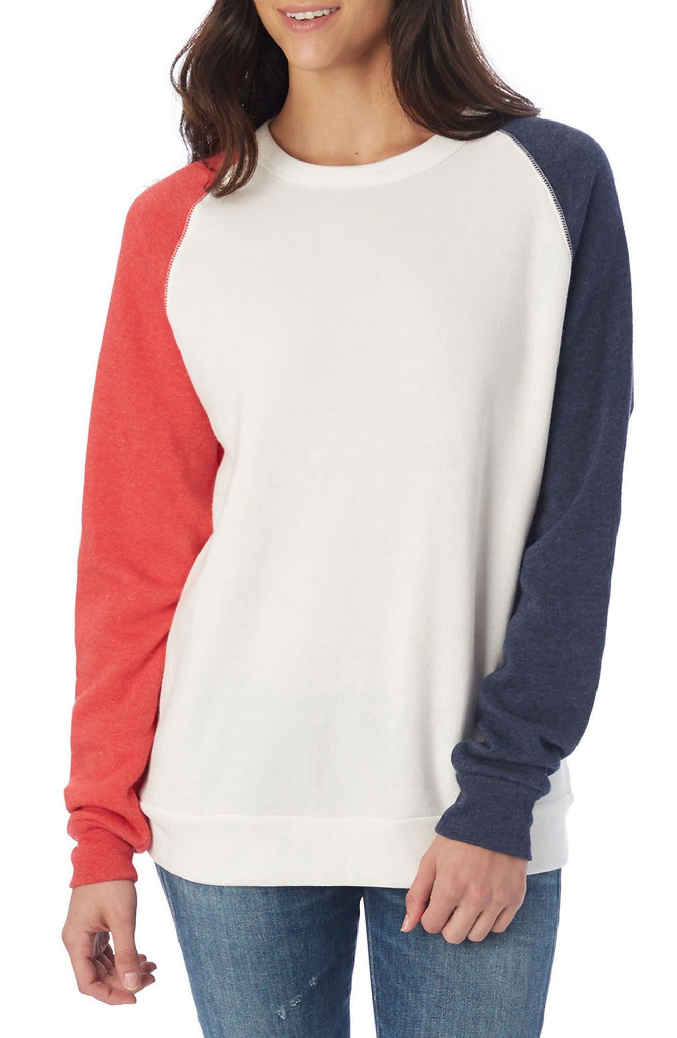 USA Champ Sweatshirt,                             Main thumbnail 1, color,                             Ivory/ True Red/ True Navy
