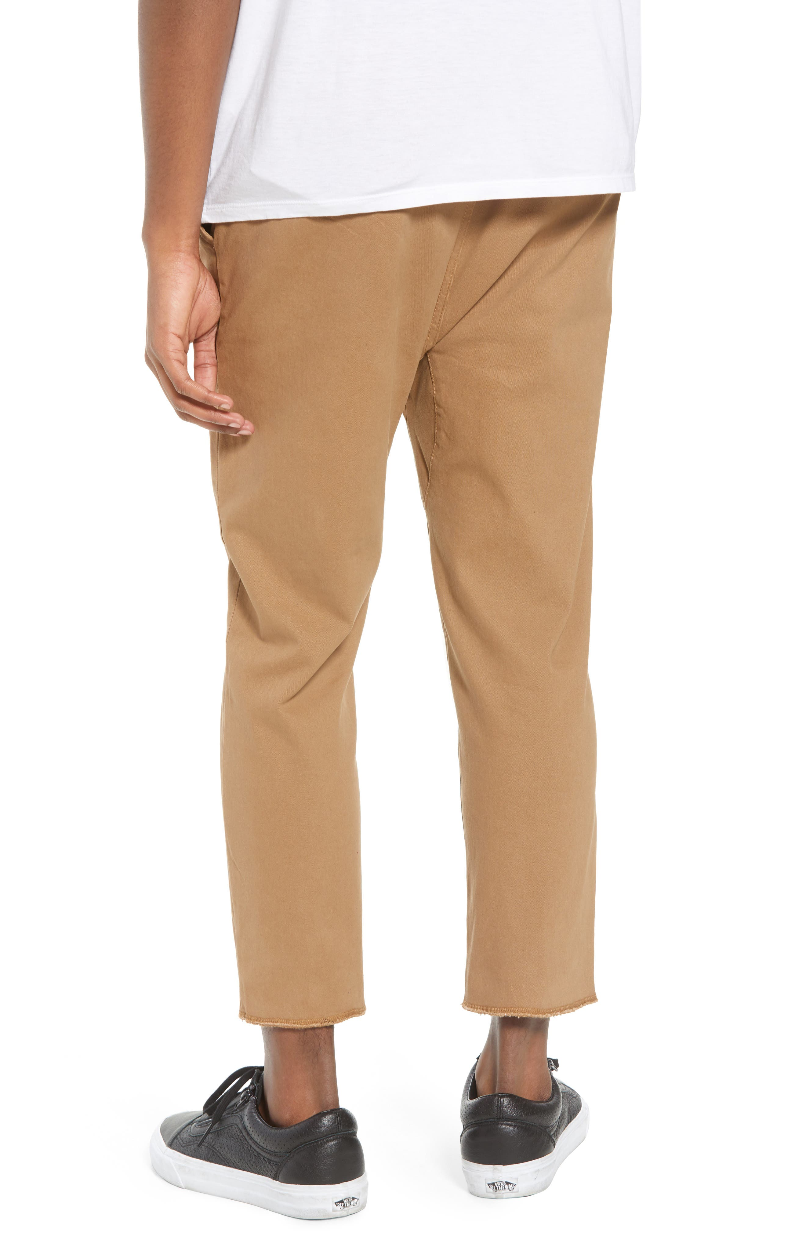 Vacation Slim Fit Crop Pants,                             Alternate thumbnail 2, color,                             Khaki