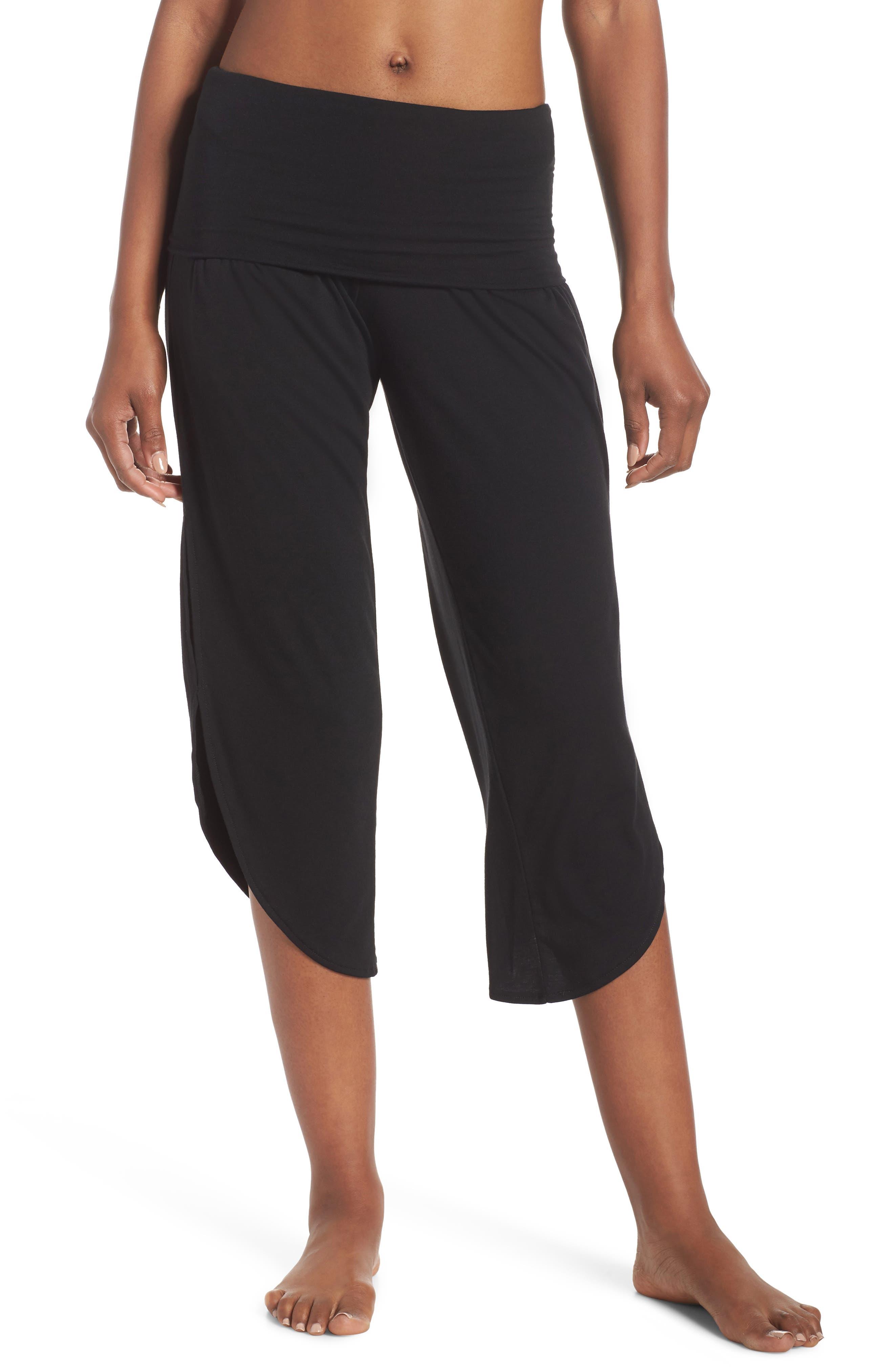 Foldover Waist Tulip Pants,                         Main,                         color, Black