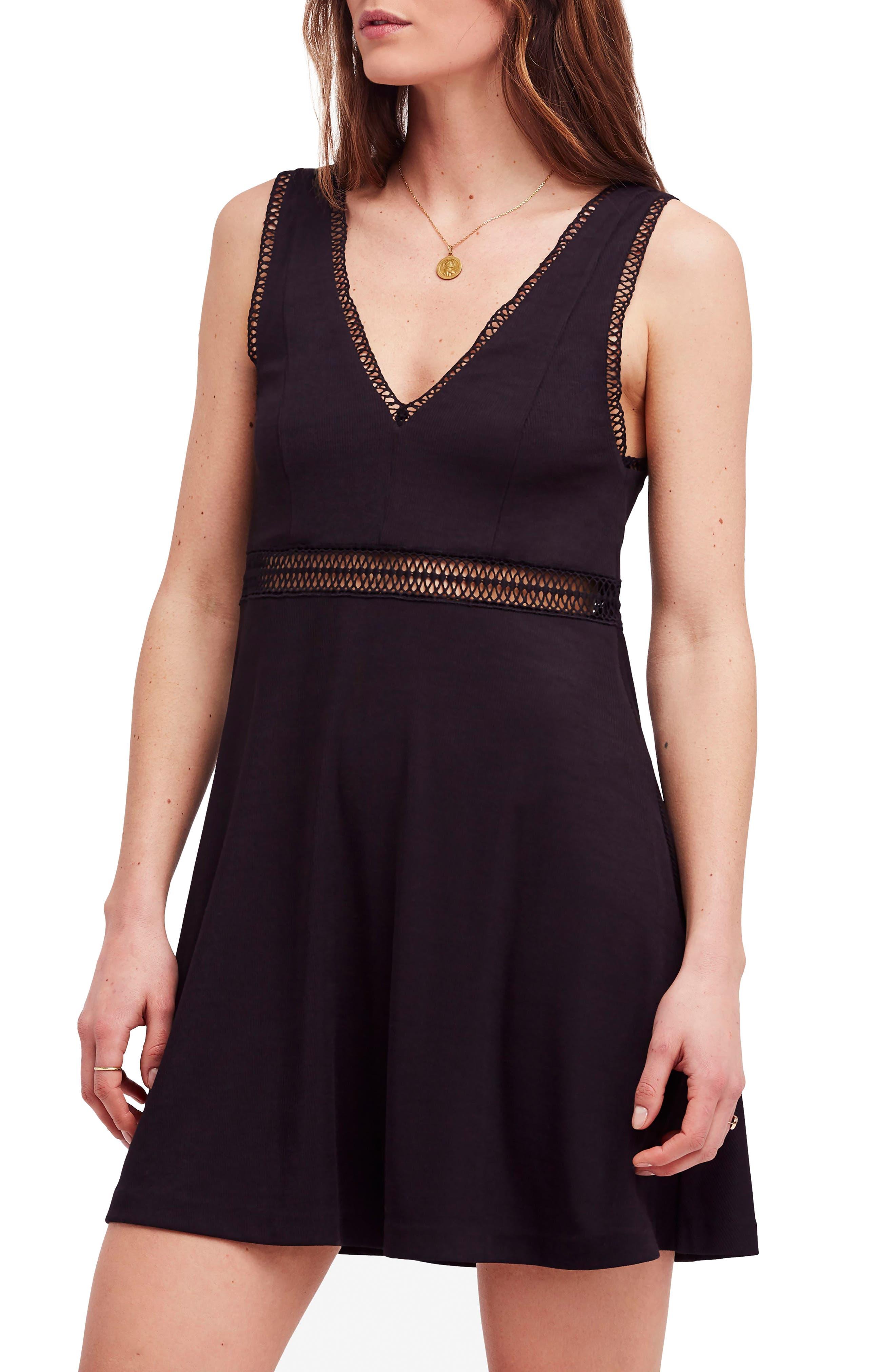 King of My Heart Minidress,                         Main,                         color, Black