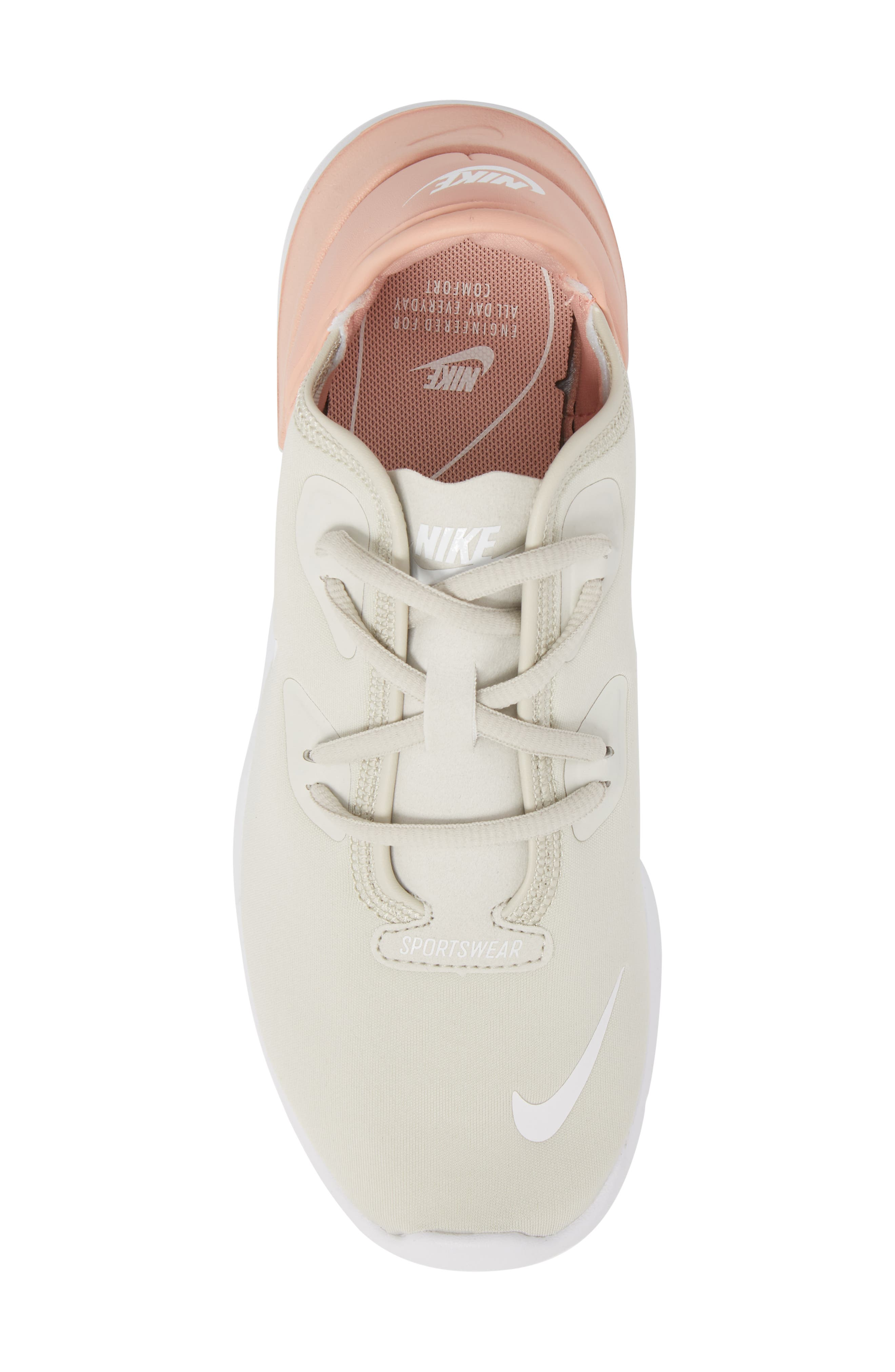 Hakata Sneaker,                             Alternate thumbnail 5, color,                             Light Bone/ White/ Coral