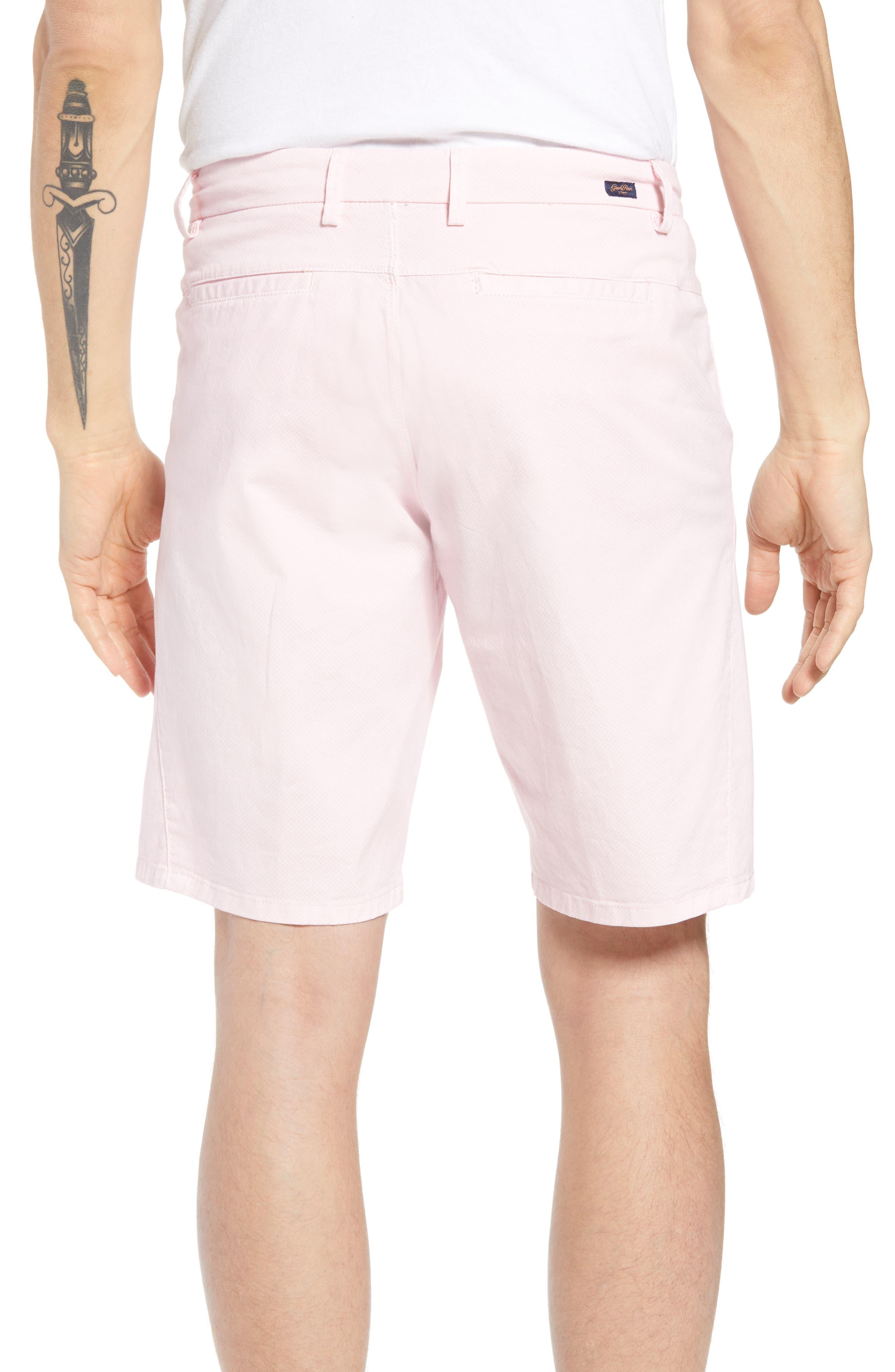 Monaco Diamond Dash Modern Fit Chino Shorts,                             Alternate thumbnail 2, color,                             Pink