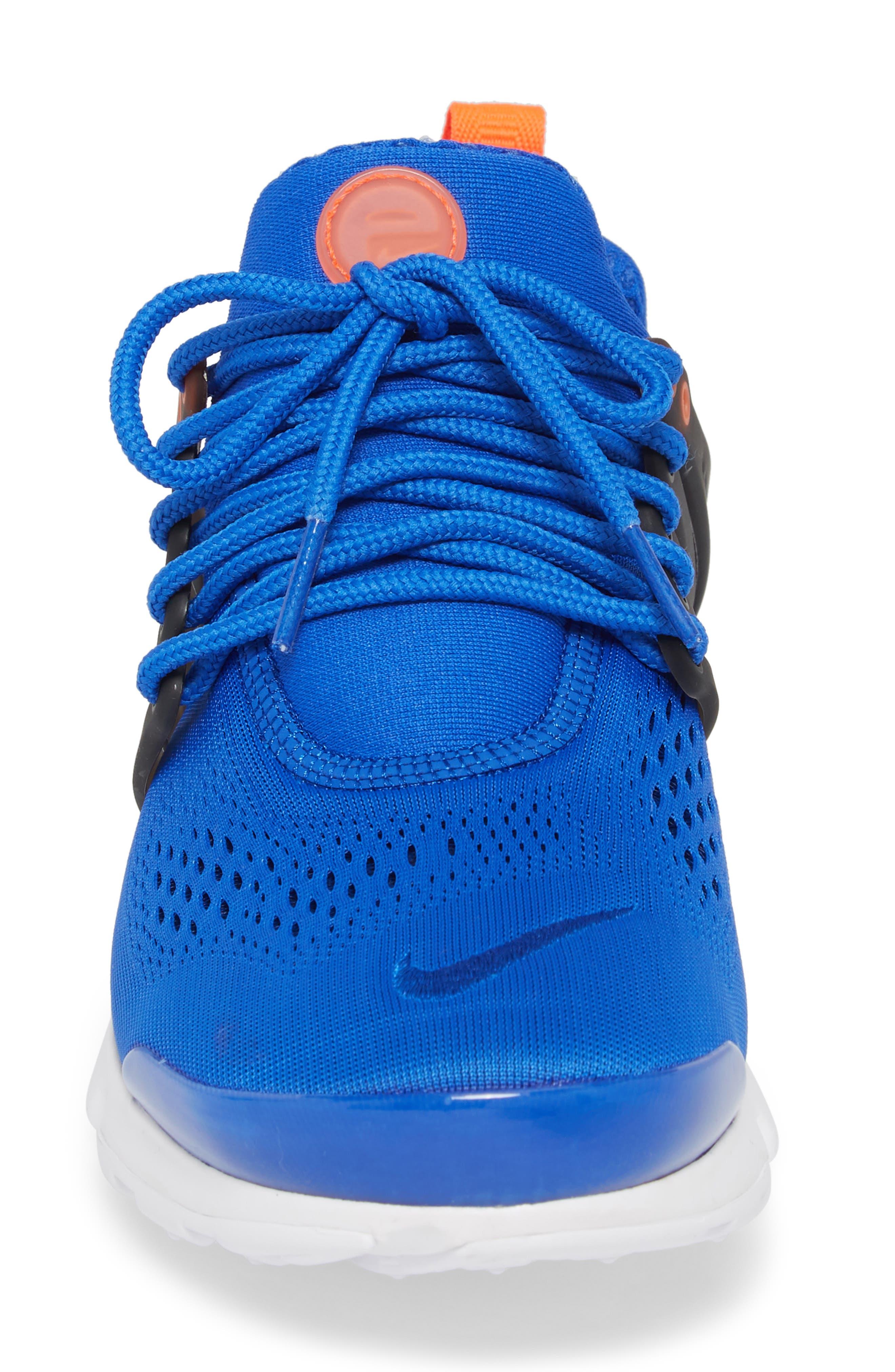 Air Presto Ultra Breathe Sneaker,                             Alternate thumbnail 4, color,                             Racer Blue/ Total Crimson
