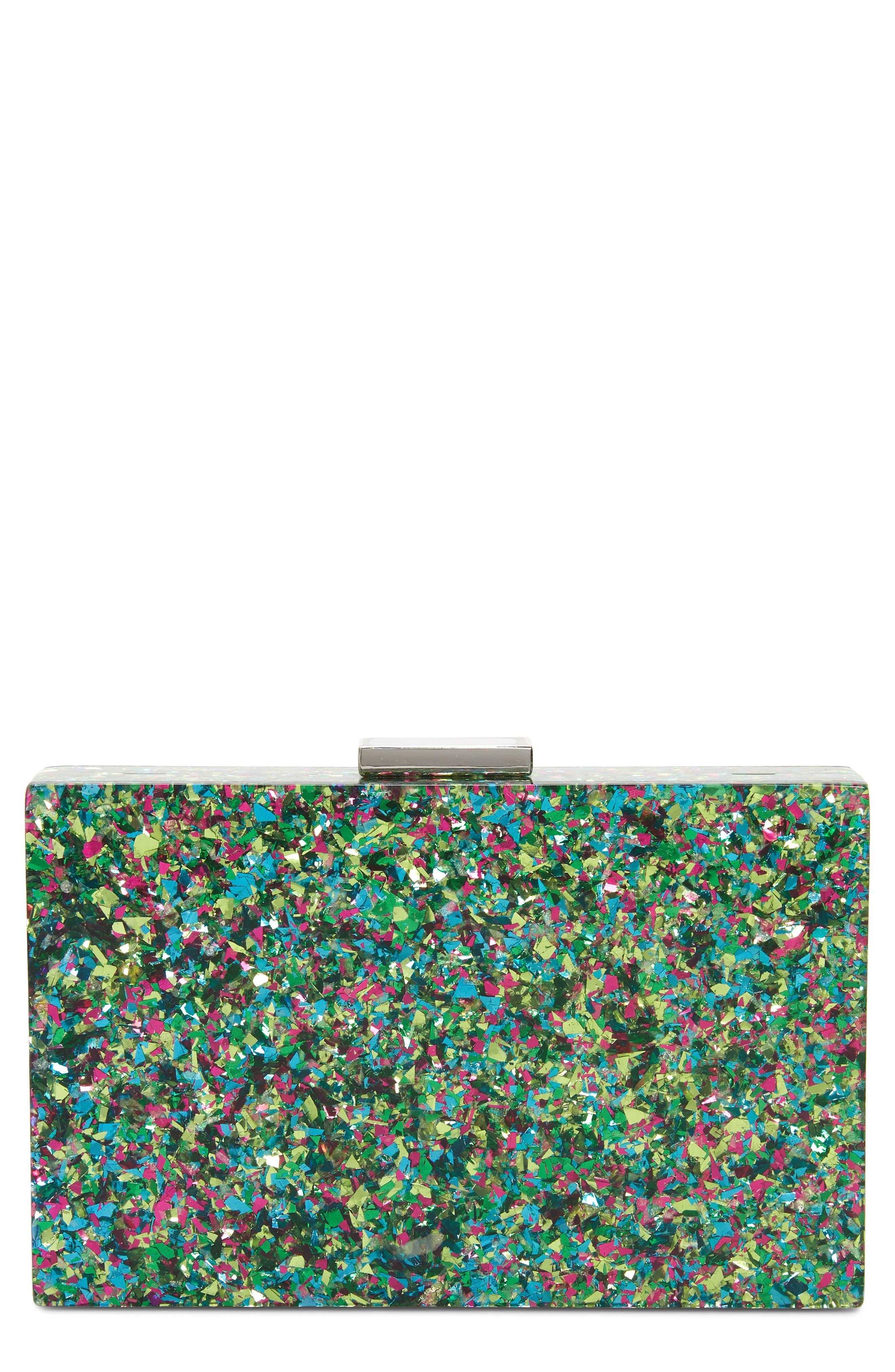 Confetti Box Clutch,                         Main,                         color, Multi