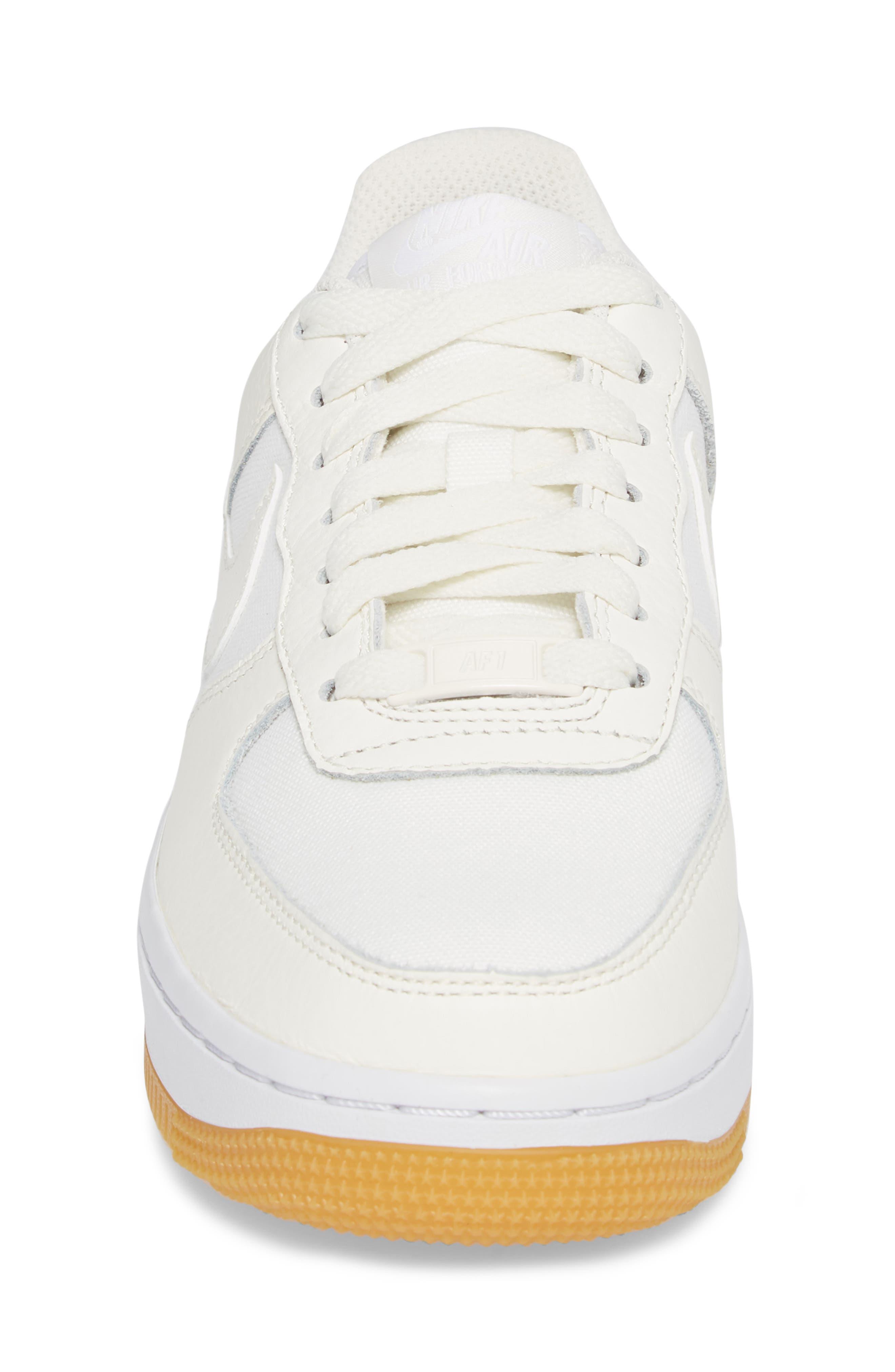 Air Force 1 '07 Premium Sneaker,                             Alternate thumbnail 4, color,                             Sail/ White/ Light Brown