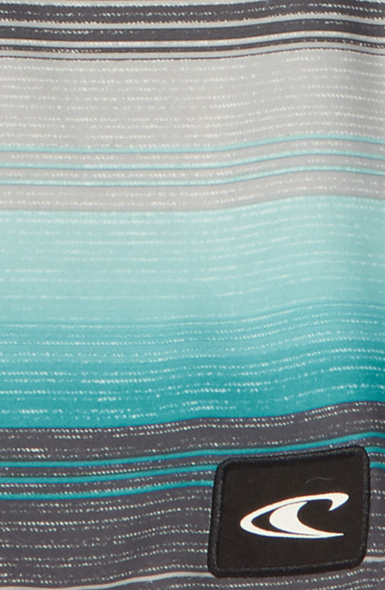 Santa Cruz Stripe Board Shorts,                             Alternate thumbnail 2, color,                             Ocean