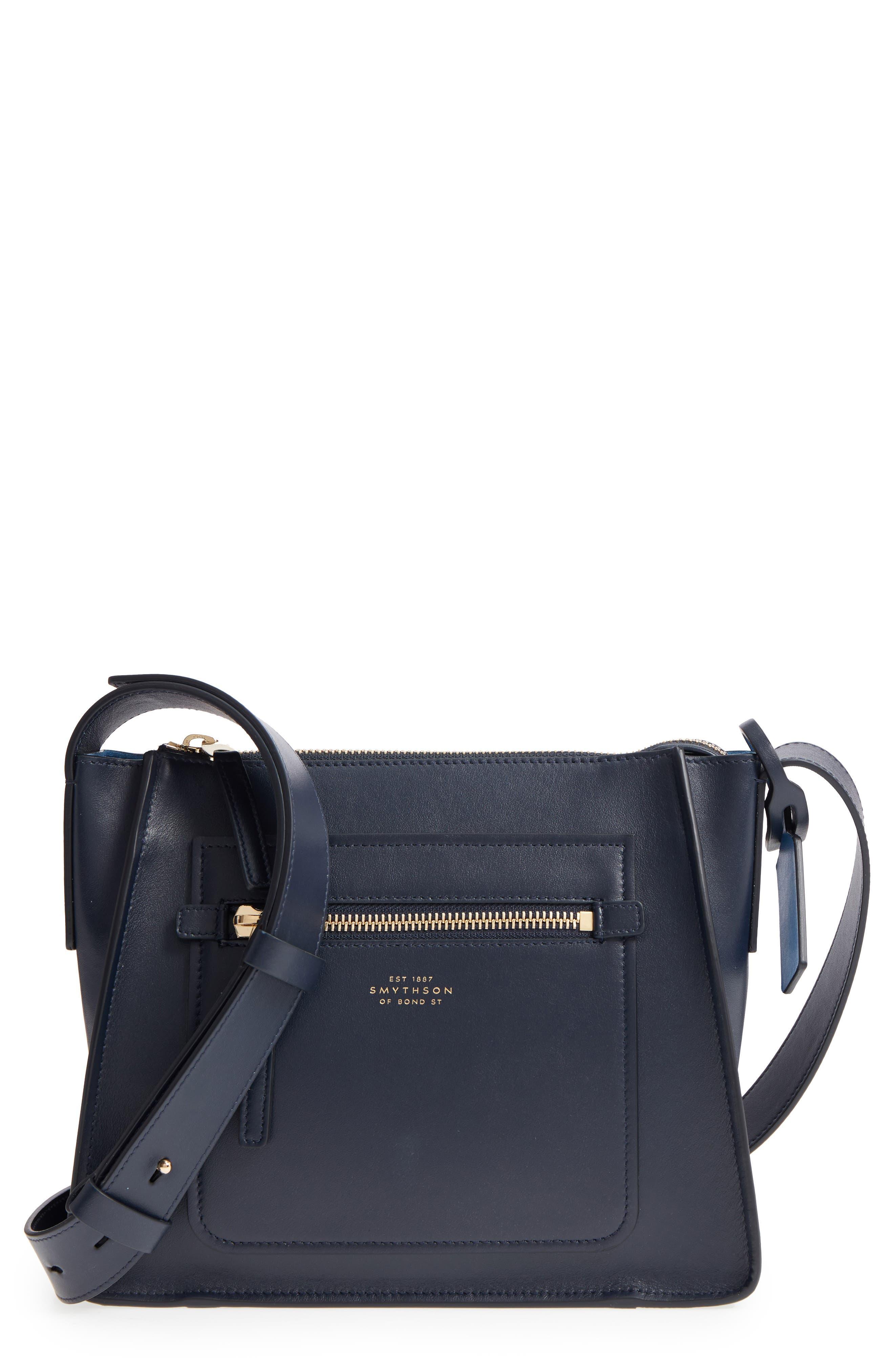 Smythson Bond Leather Crossbody Bag