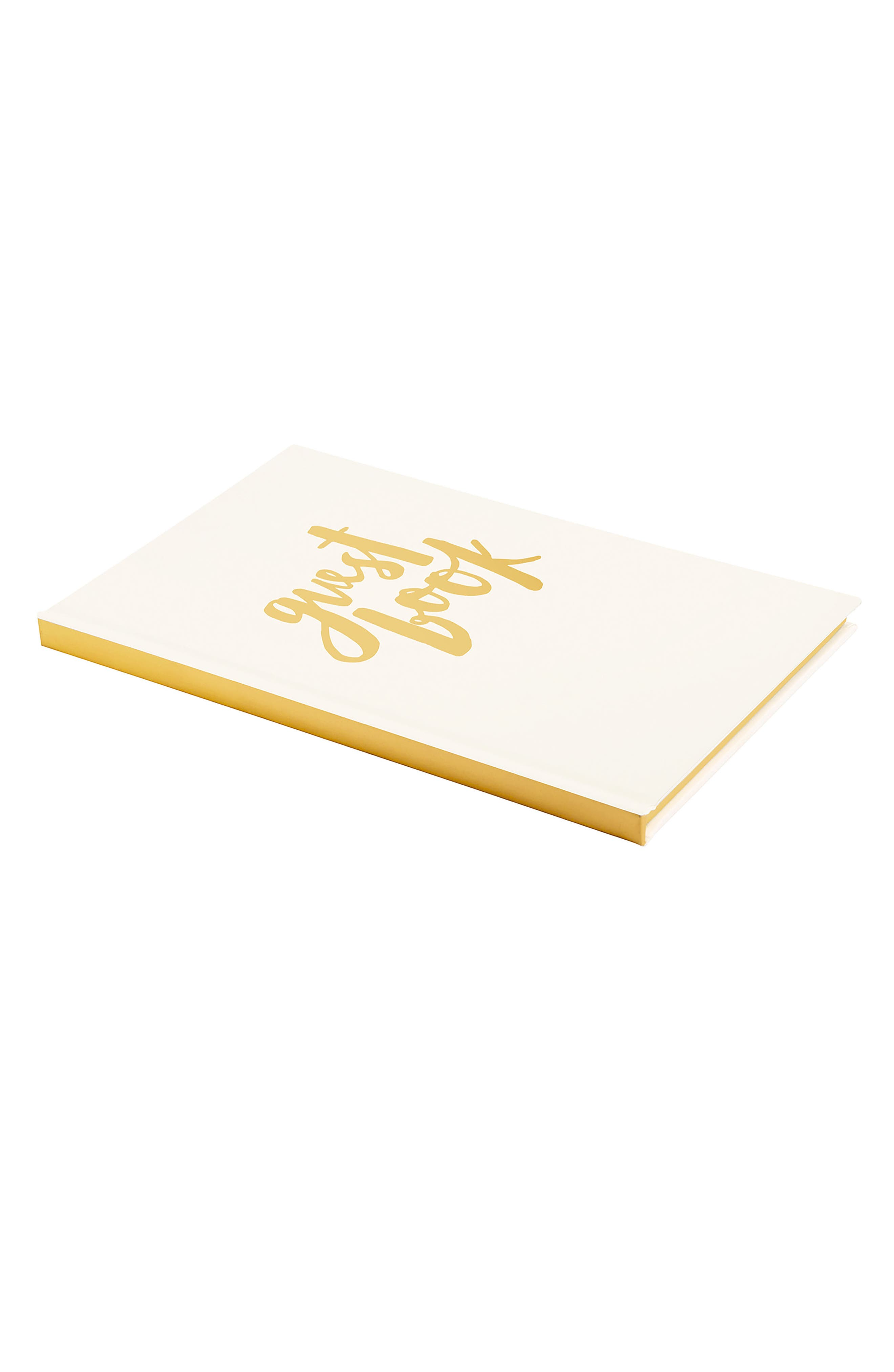 Always & Forever Hardcover Wedding Guestbook,                             Alternate thumbnail 4, color,                             Gold