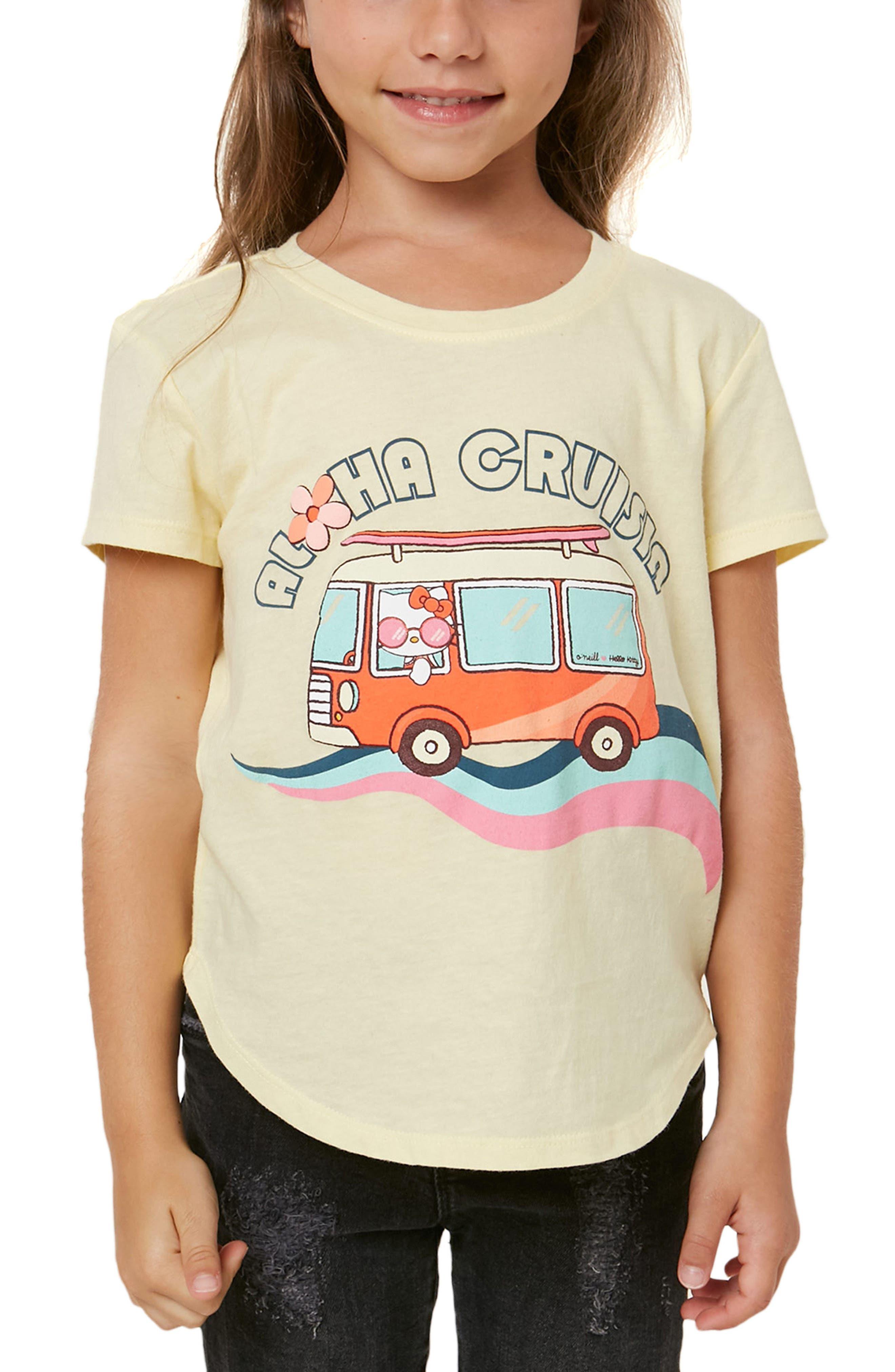 O'Neill x Hello Kitty® Aloha Cruisin Graphic Tee (Toddler Girls & Little