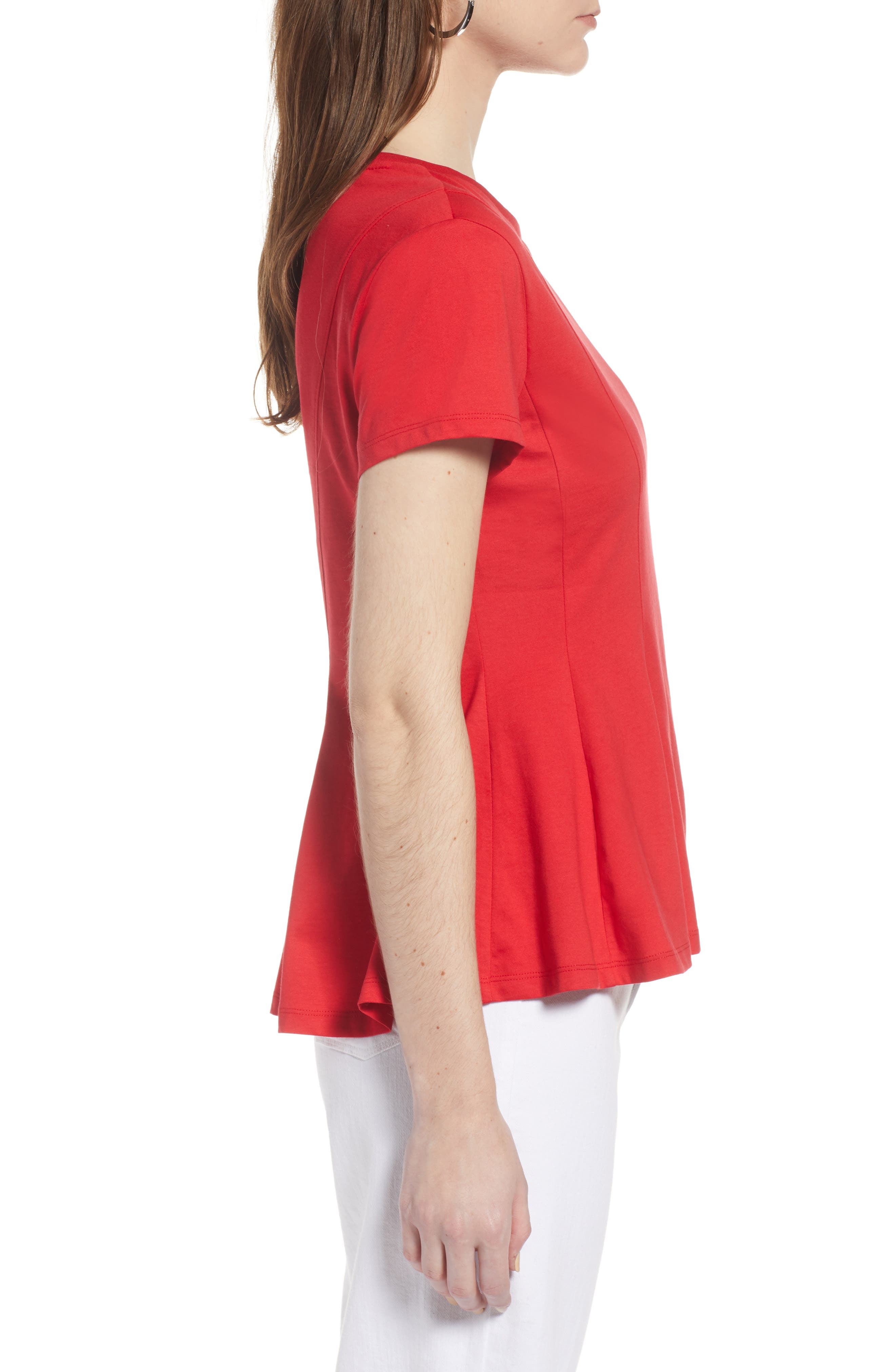 Swing Tee,                             Alternate thumbnail 3, color,                             Red Lipstick
