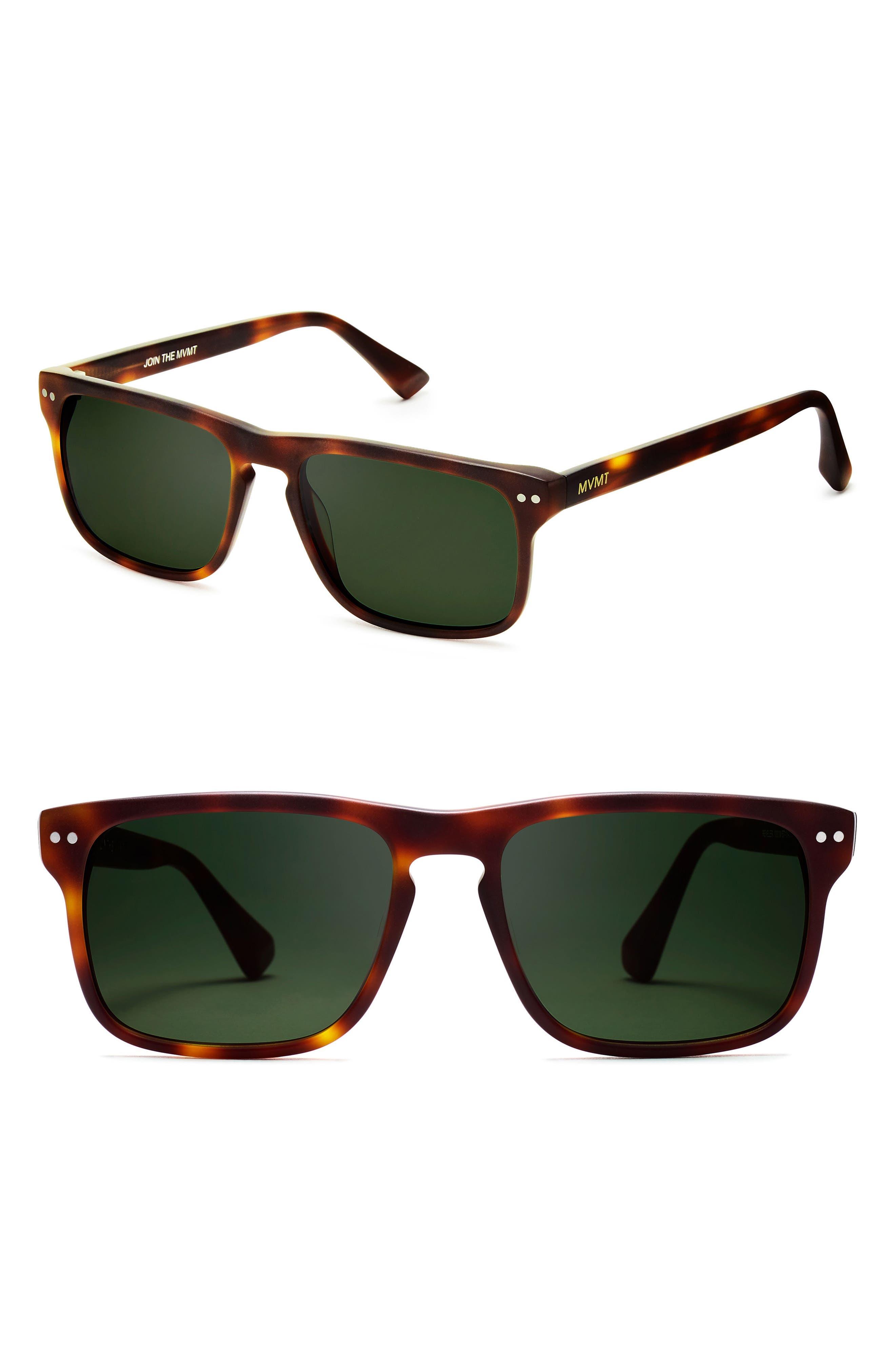 Reveler 57mm Sunglasses,                             Main thumbnail 1, color,                             Whiskey Tortoise