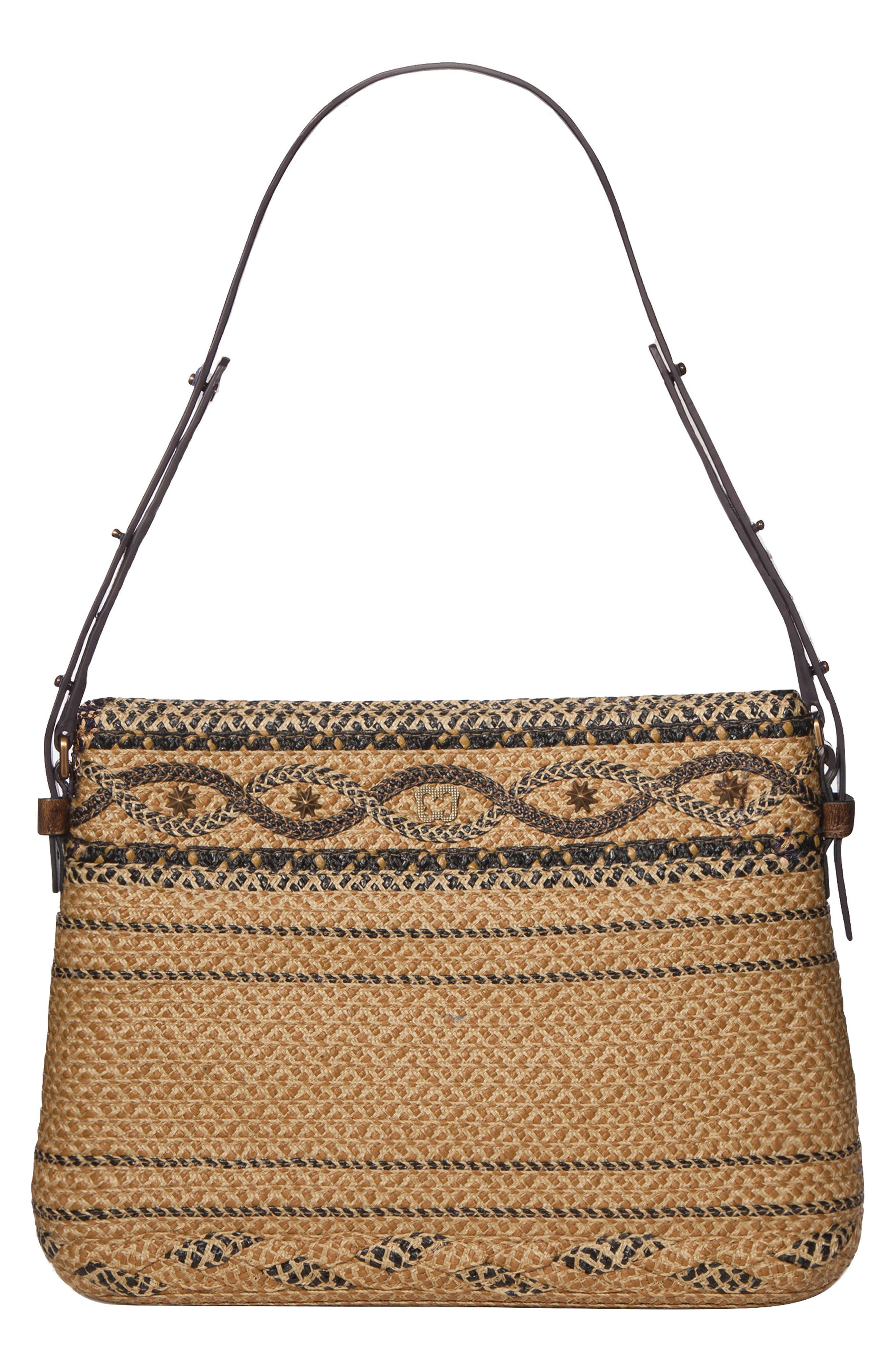 ERIC JAVITS BHUTAN SQUISHEE SHOULDER BAG - BEIGE