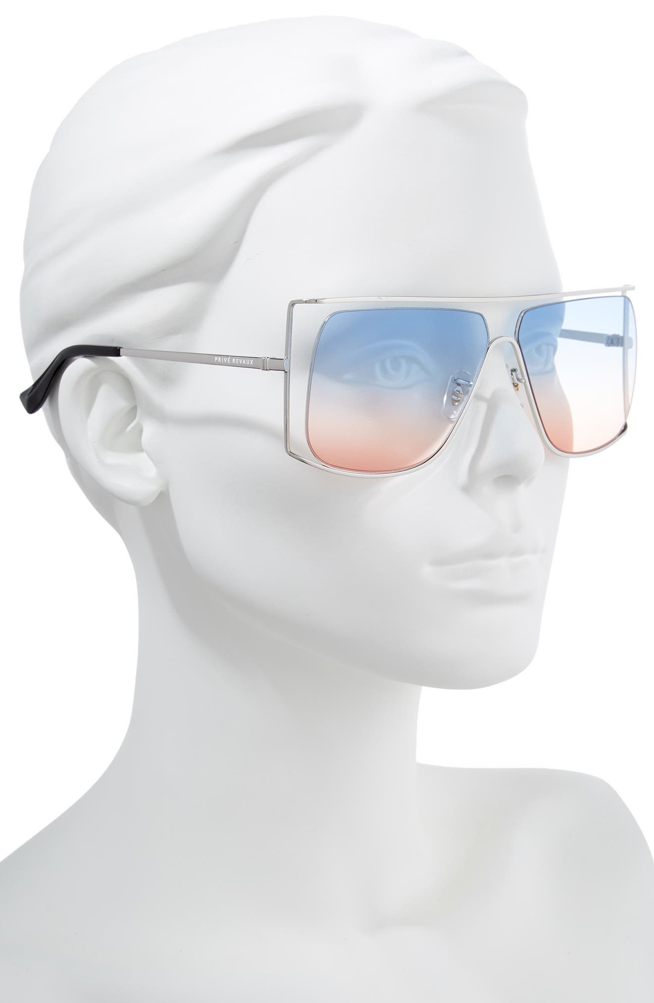 Privé Revaux The Jagger 60mm Square Sunglasses,                             Alternate thumbnail 3, color,                             Silver